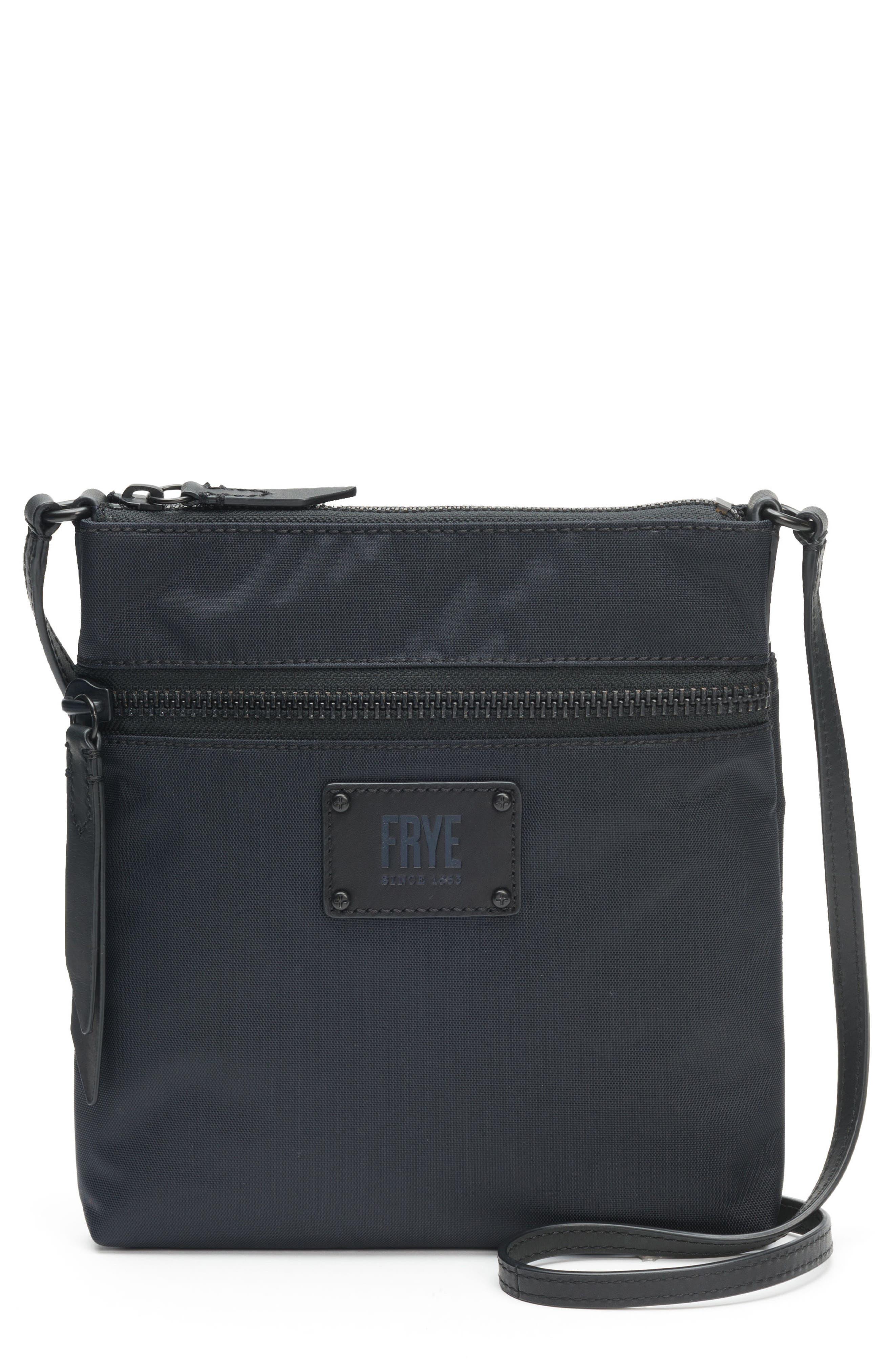 Ivy Nylon Crossbody Bag,                         Main,                         color, MATTE BLACK