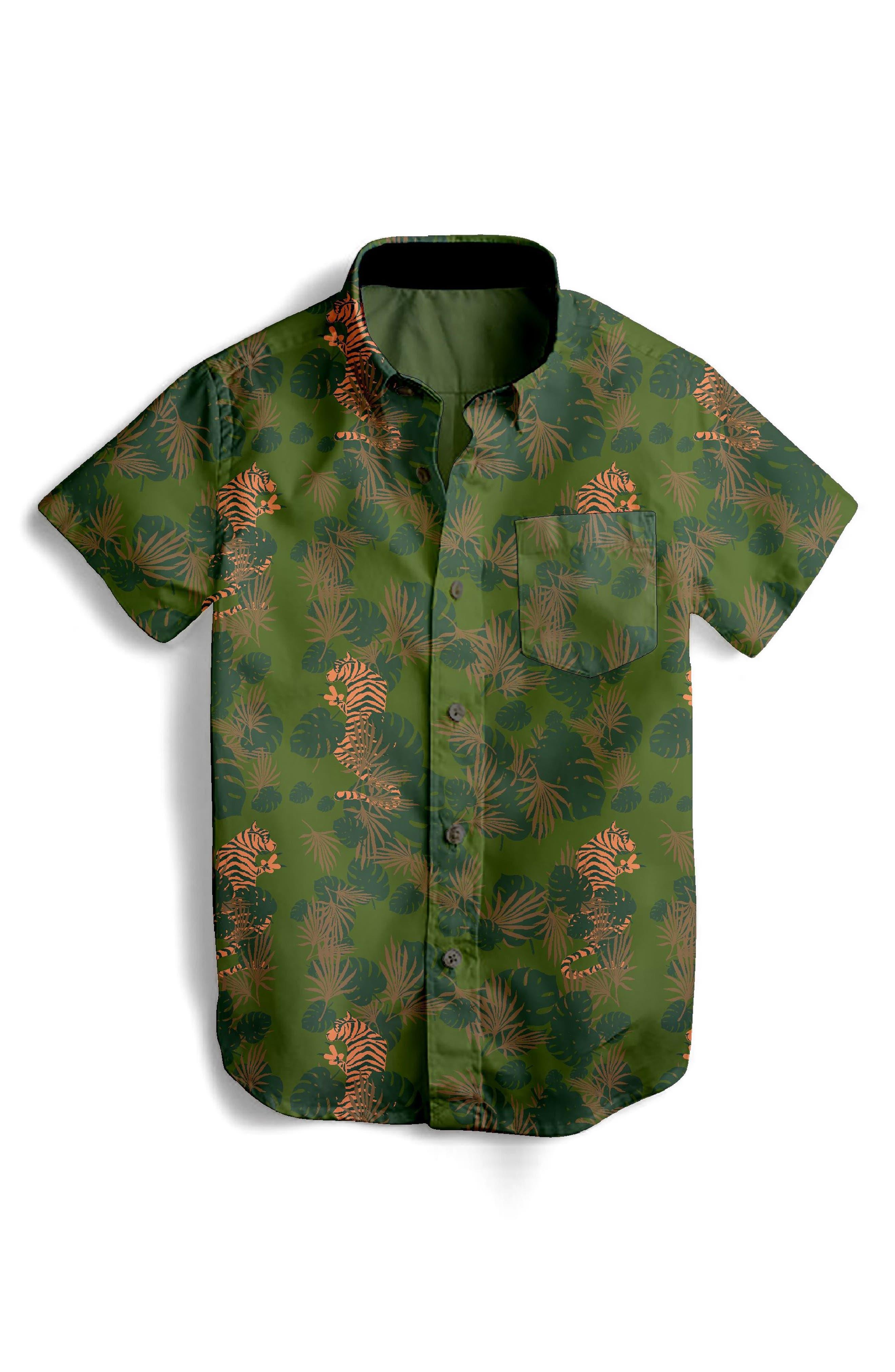 EZ Tiger Woven Shirt,                         Main,                         color, 300