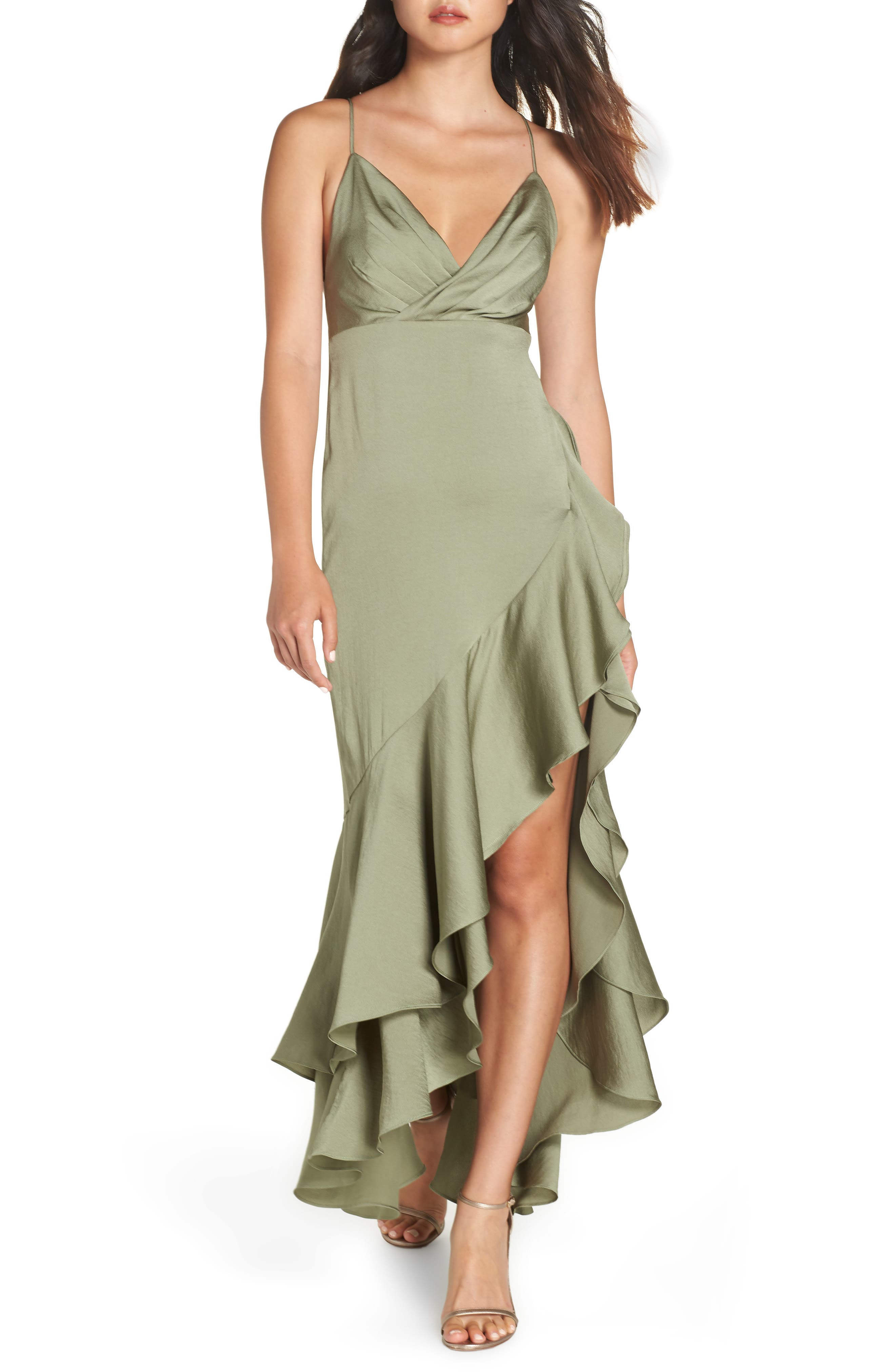 Fame And Partners The Bristol High/low Dress, Green