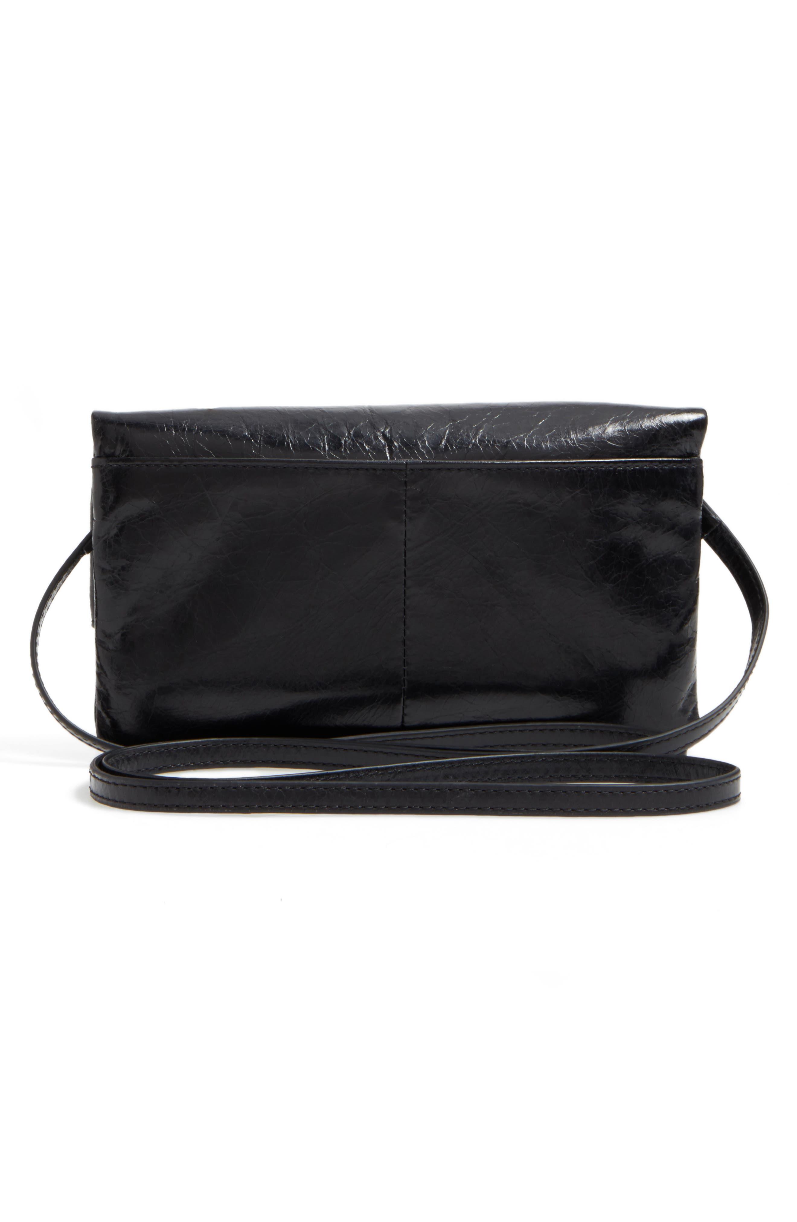 Rudy Leather Crossbody Bag,                             Alternate thumbnail 3, color,                             001