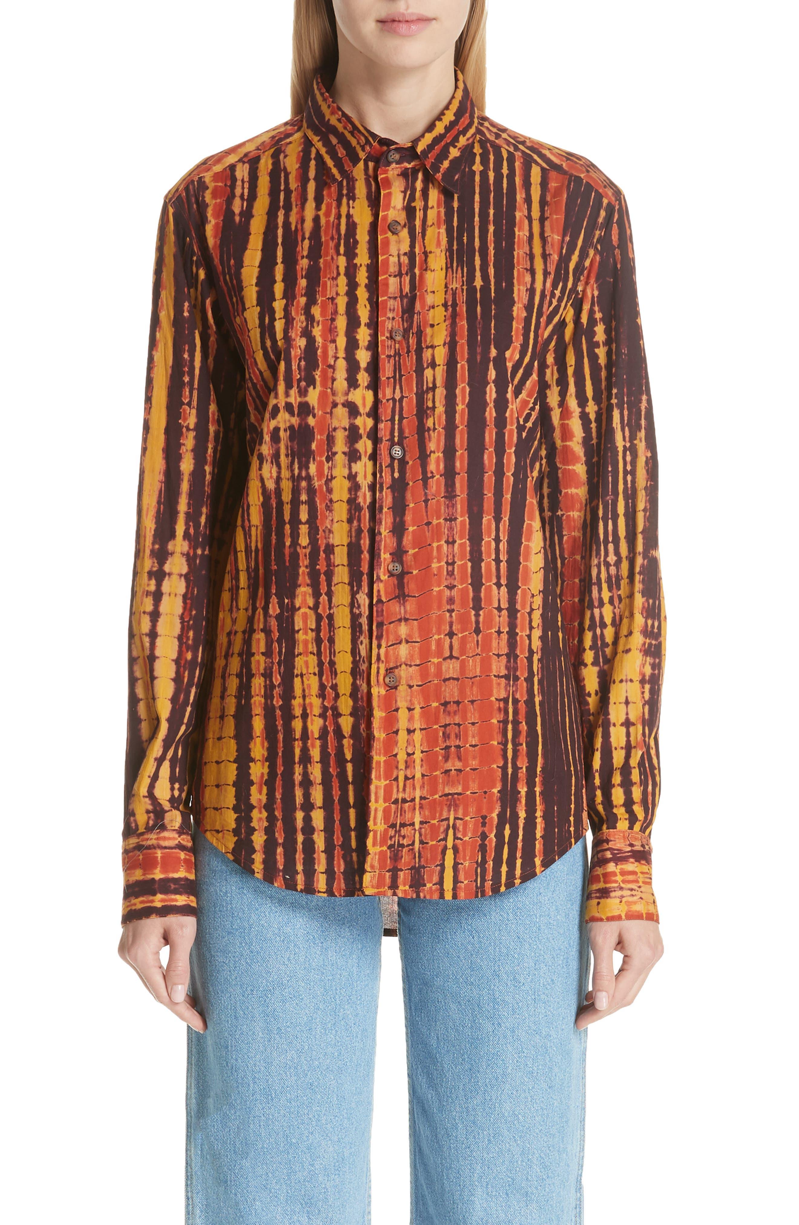 ECKHAUS LATTA,                             Hand Dyed Cotton Shirt,                             Main thumbnail 1, color,                             200