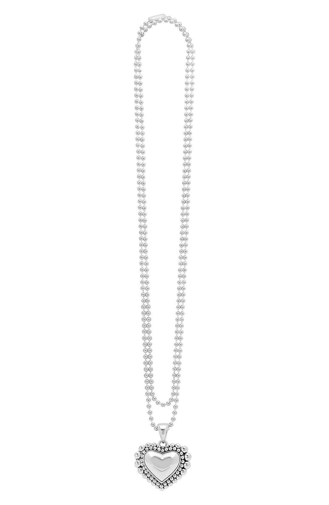Long Heart Pendant Necklace,                         Main,                         color, 040
