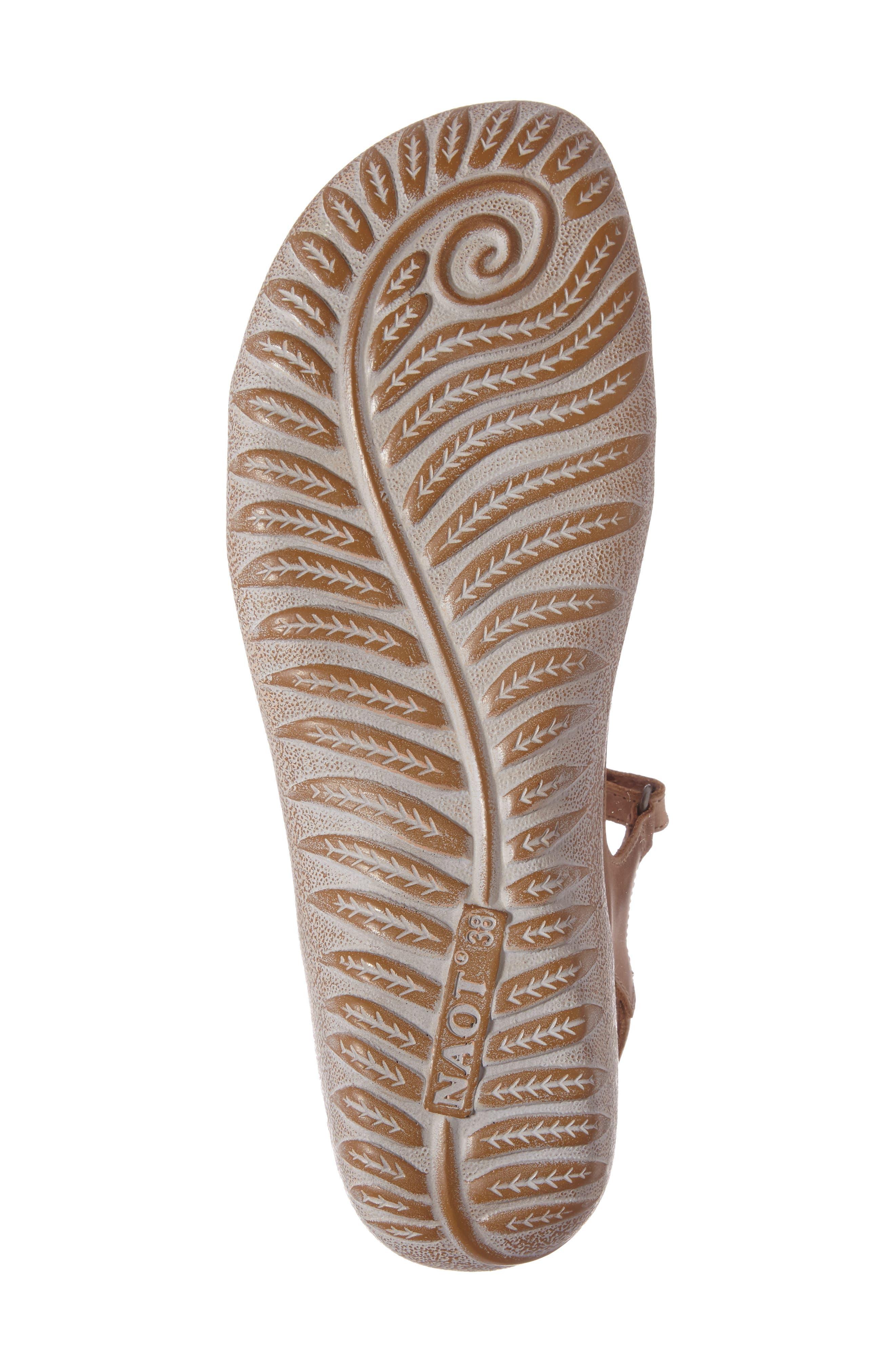'Etera' Sandal,                             Alternate thumbnail 4, color,                             BROWN LEATHER