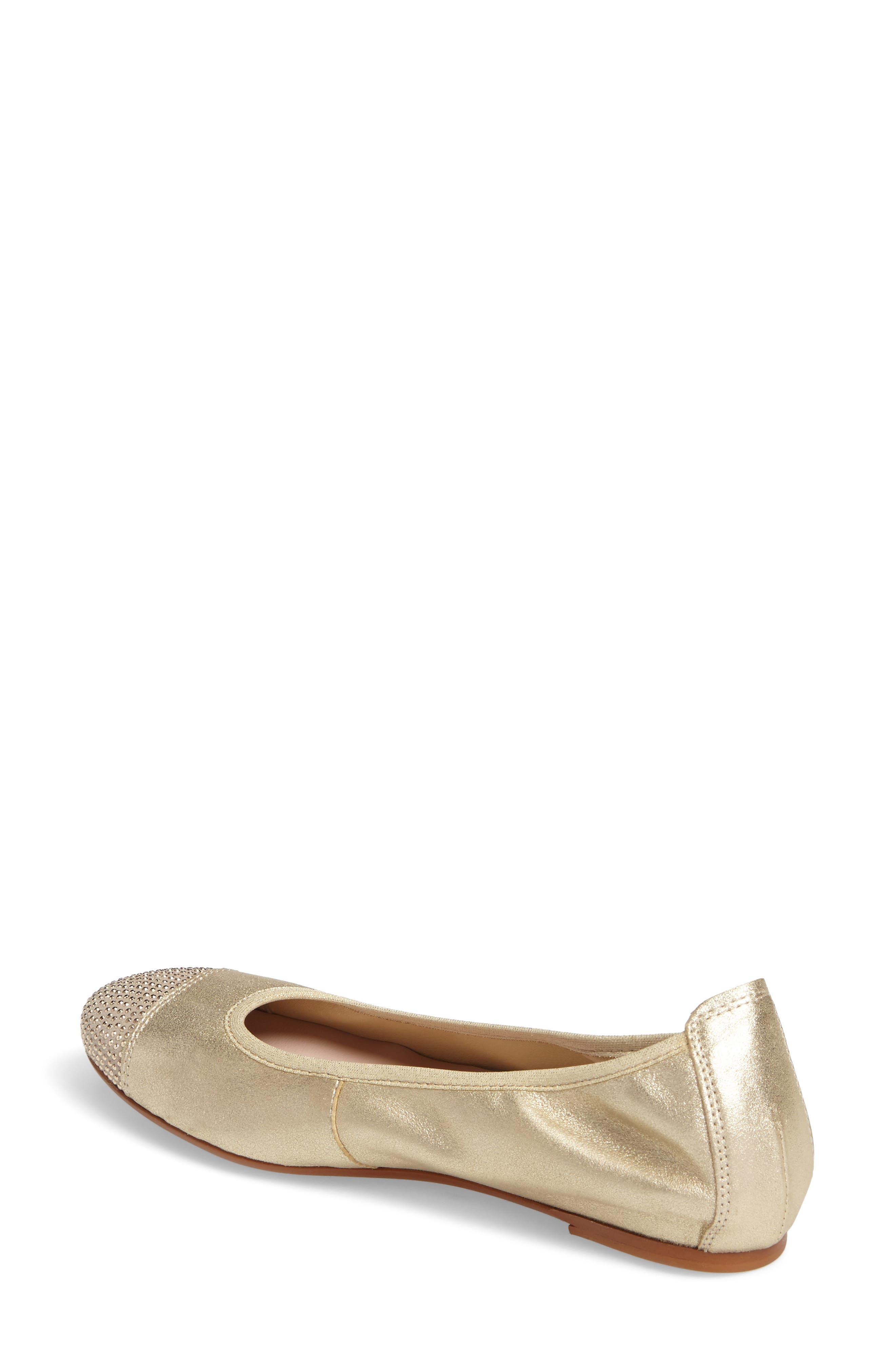 'Starr' Studded Ballet Flat,                             Alternate thumbnail 7, color,