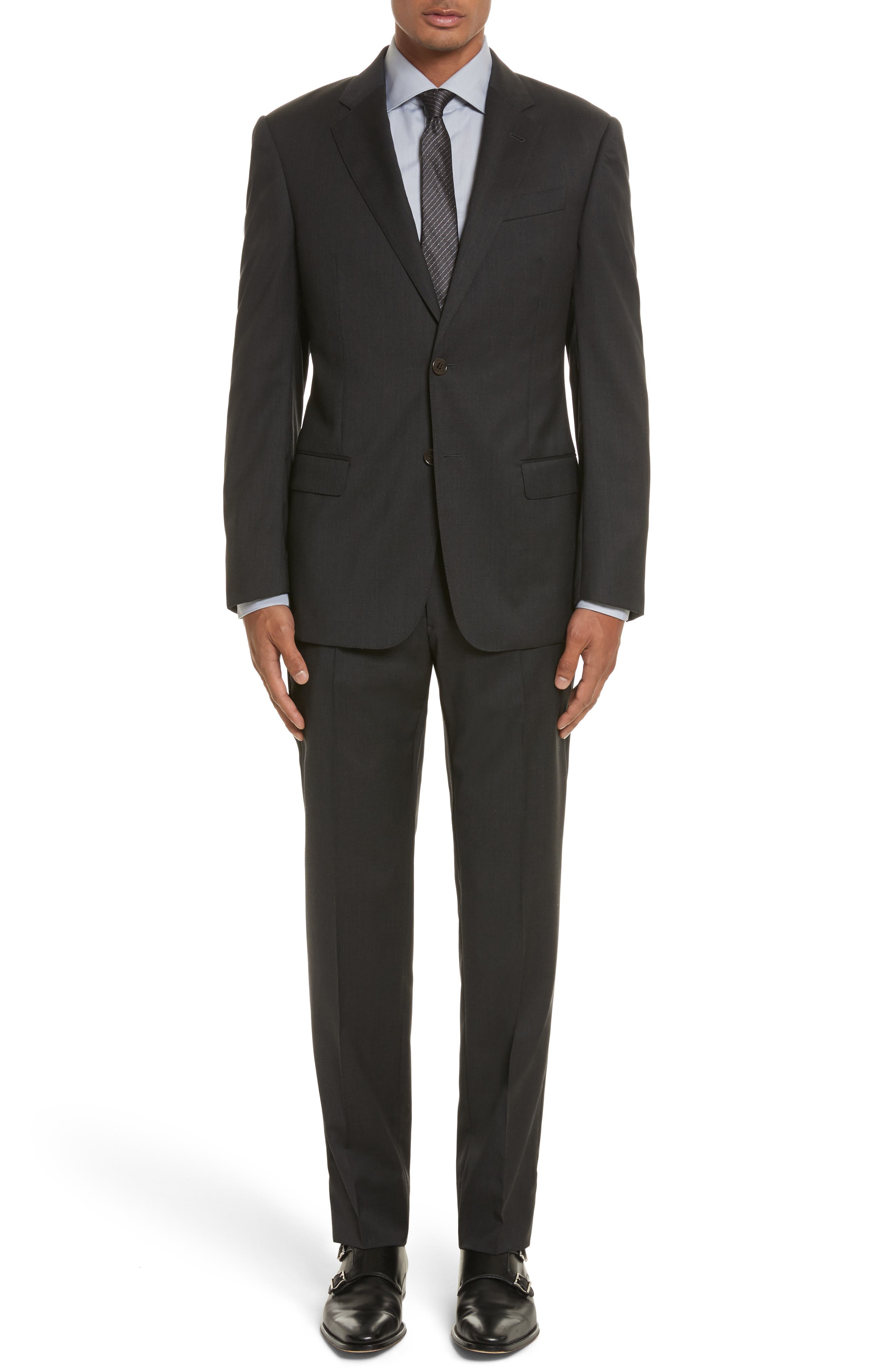 'G-Line' Trim Fit Solid Wool Suit,                             Alternate thumbnail 2, color,                             020
