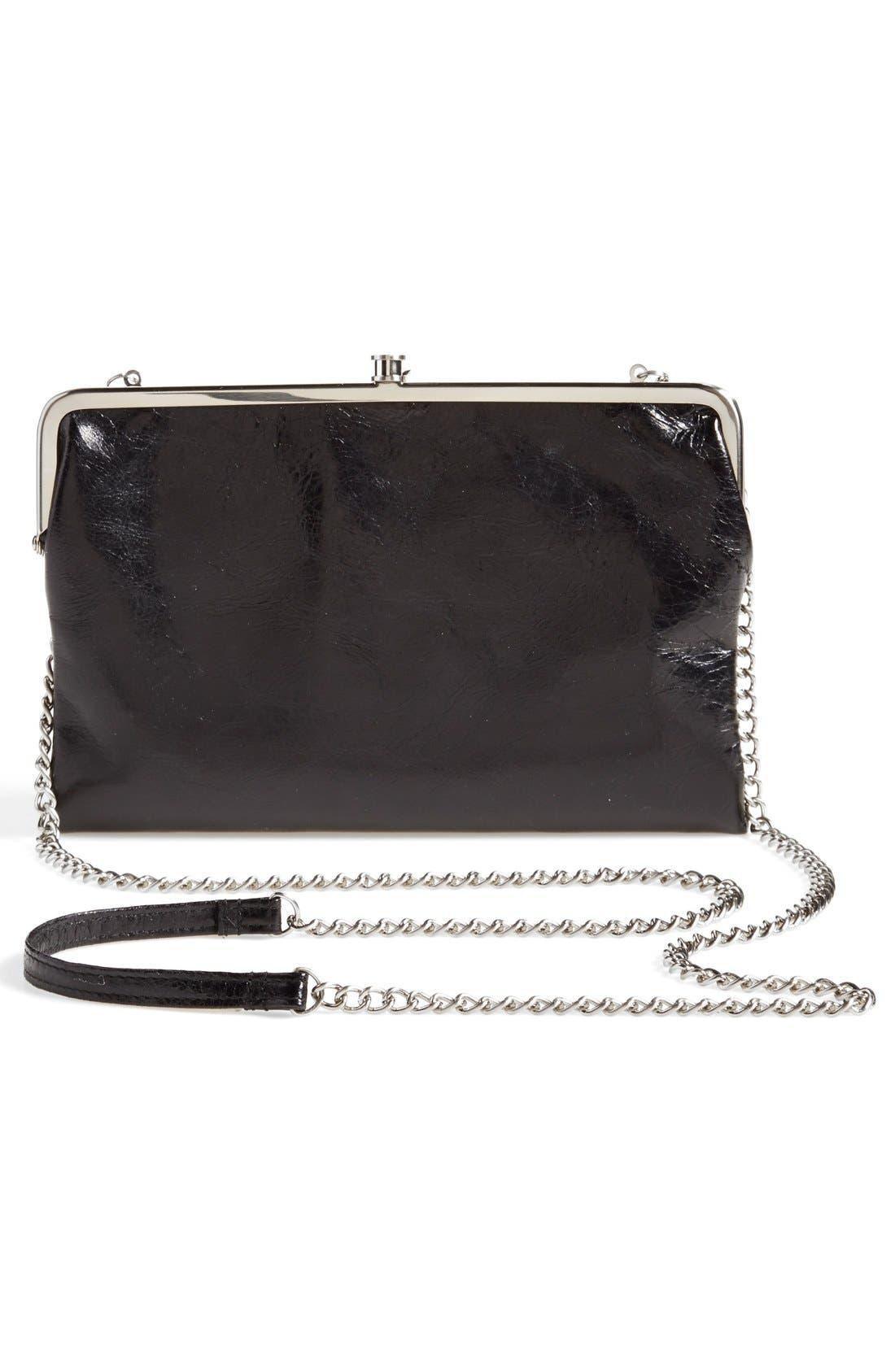 'Vintage Leanne' Leather Crossbody Bag,                             Alternate thumbnail 4, color,                             001