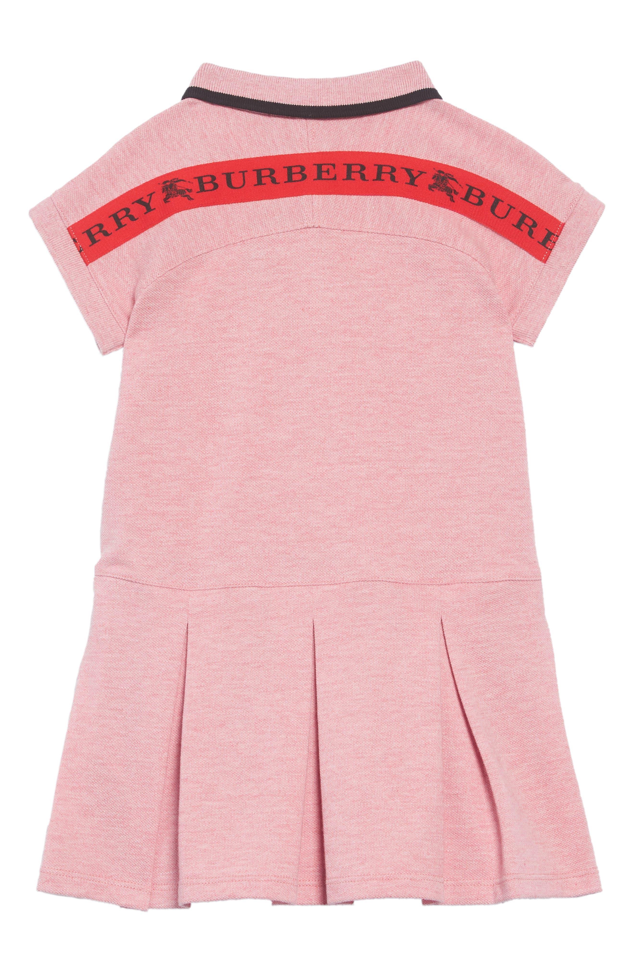 Mollyanna Polo Dress,                             Alternate thumbnail 2, color,                             PALE PINK MELANGE