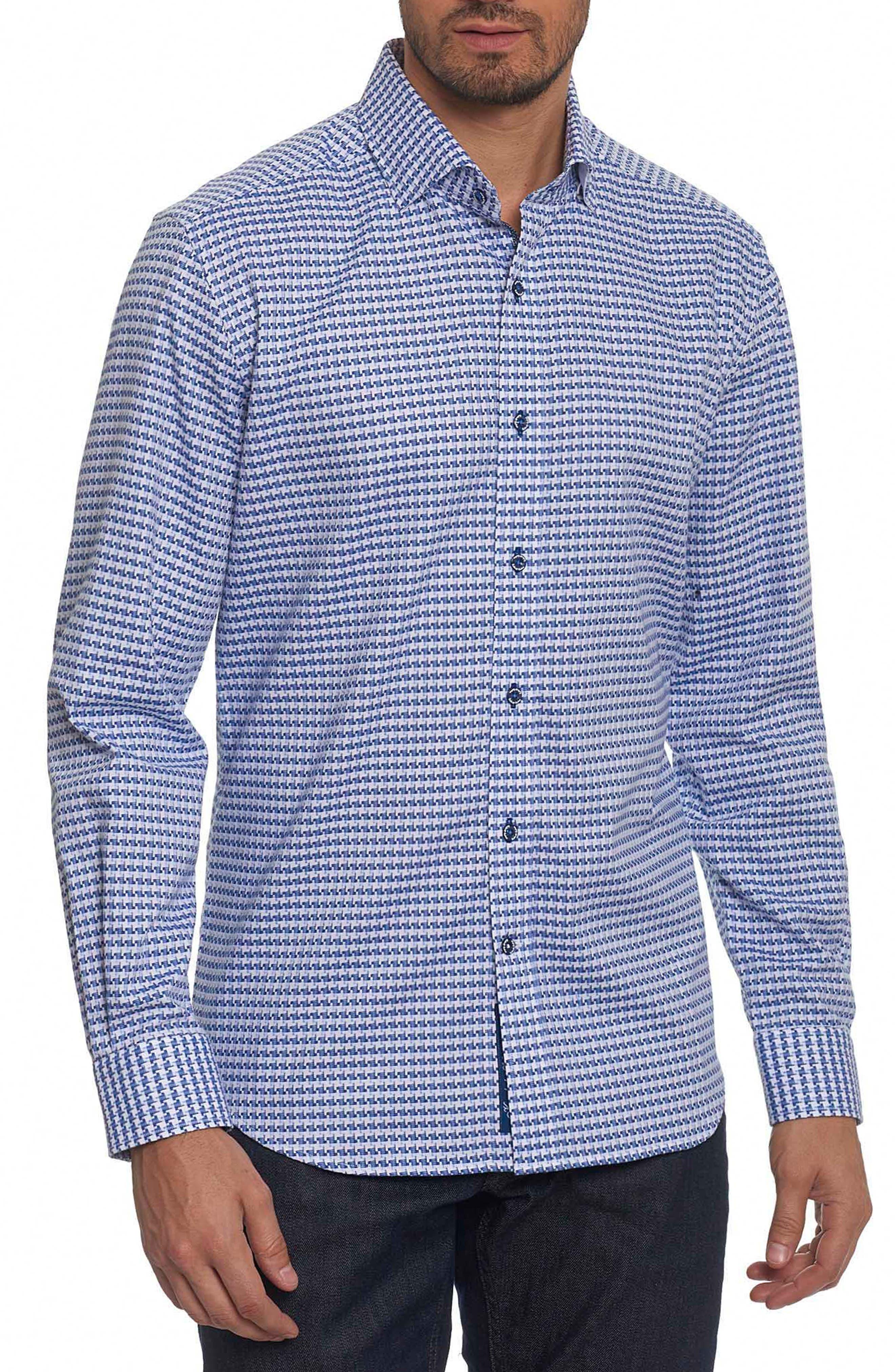 Landen Tailored Fit Print Sport Shirt,                             Main thumbnail 2, color,