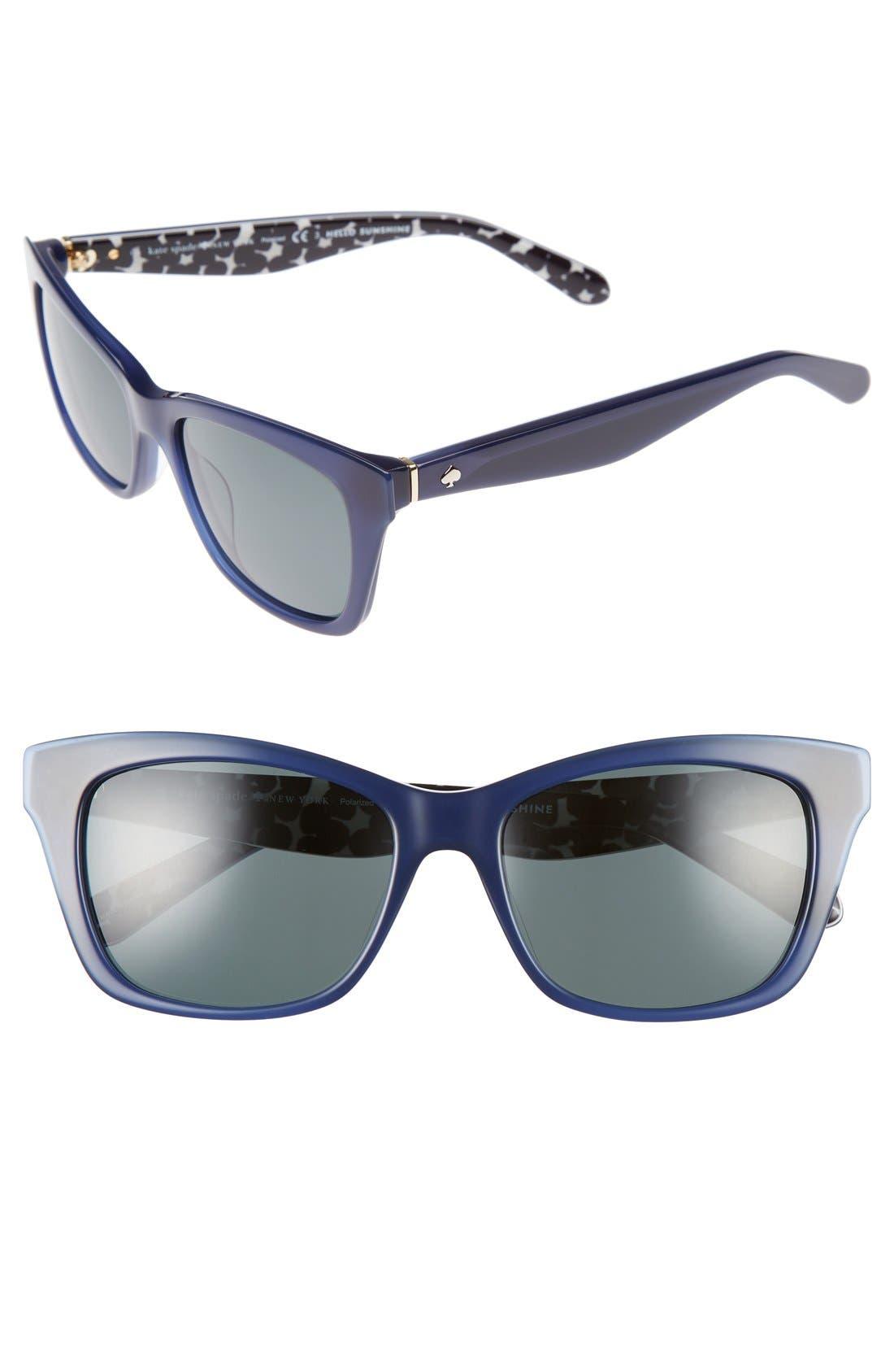 jenae 53mm polarized sunglasses,                             Main thumbnail 3, color,