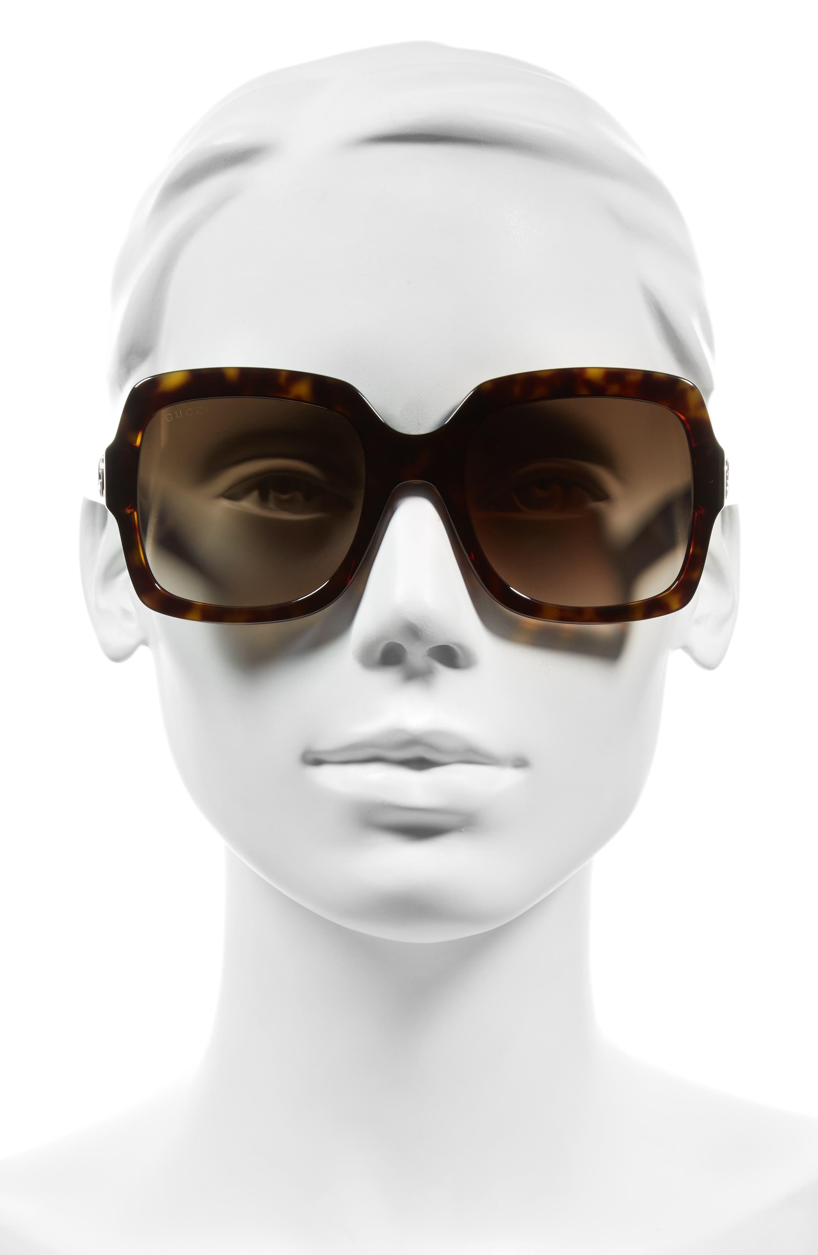 GUCCI,                             54mm Square Sunglasses,                             Alternate thumbnail 2, color,                             200