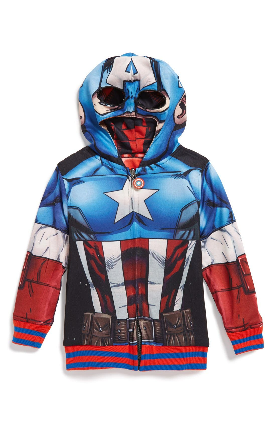 'Marvel Avengers - Iron Man/Captain America' Reversible Hoodie,                             Alternate thumbnail 2, color,                             615