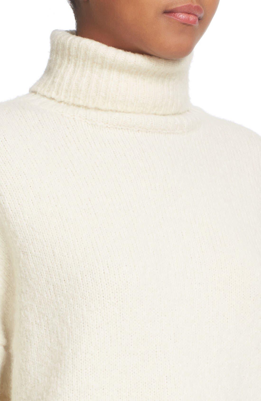 Wool Blend Turtleneck,                             Alternate thumbnail 5, color,                             108
