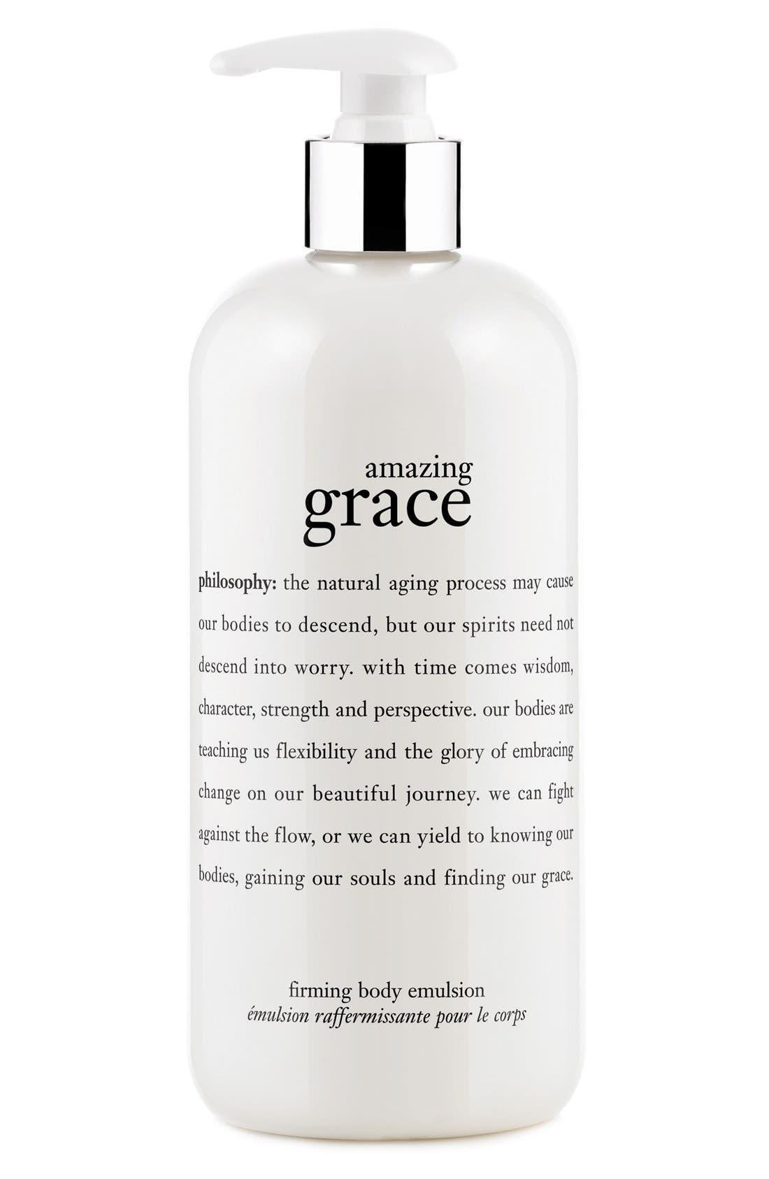 'amazing grace' firming body emulsion,                             Main thumbnail 1, color,                             NO COLOR