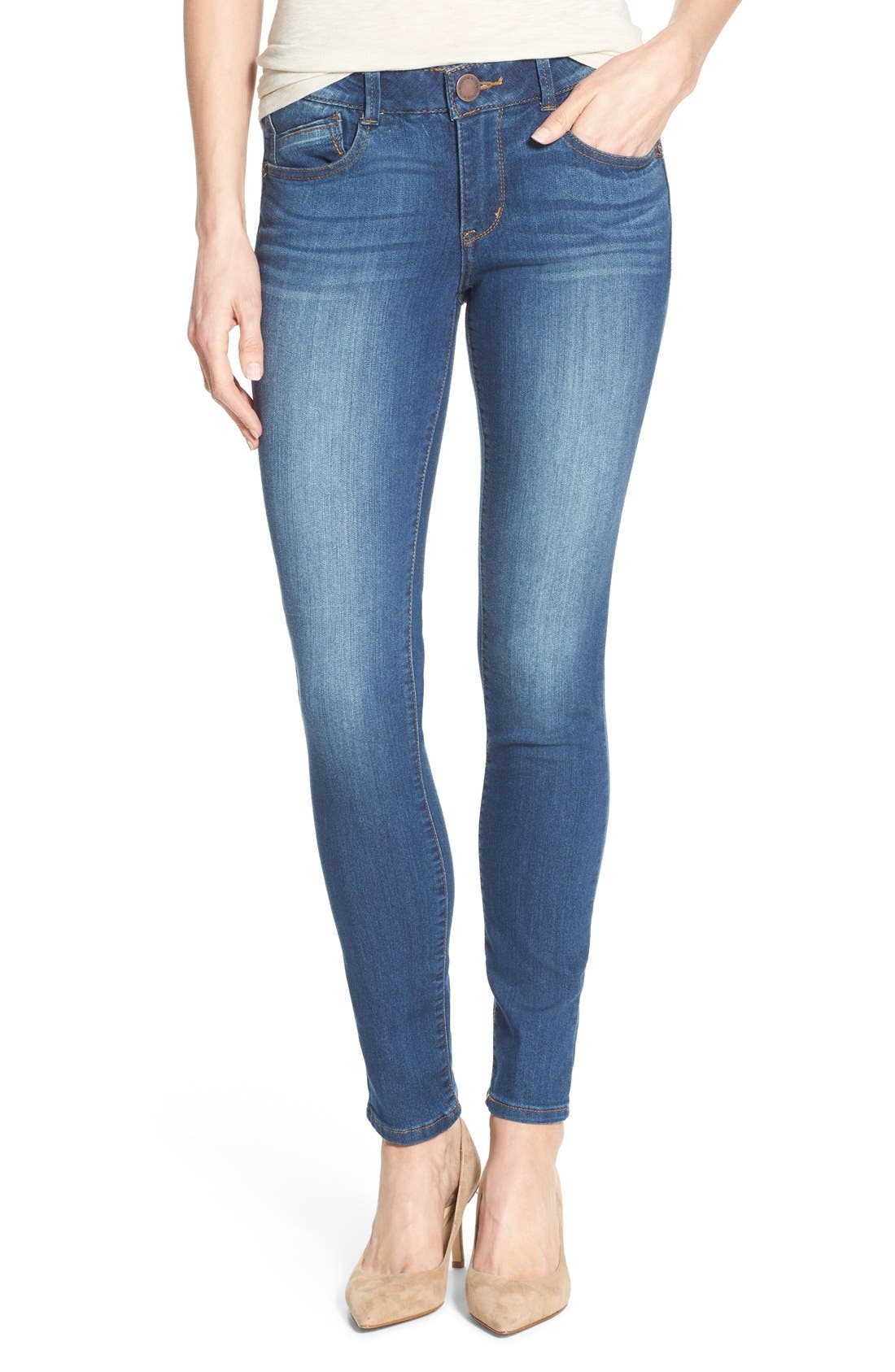 Ab-solution Stretch Skinny Jeans (Regular & Petite),                         Main,                         color,