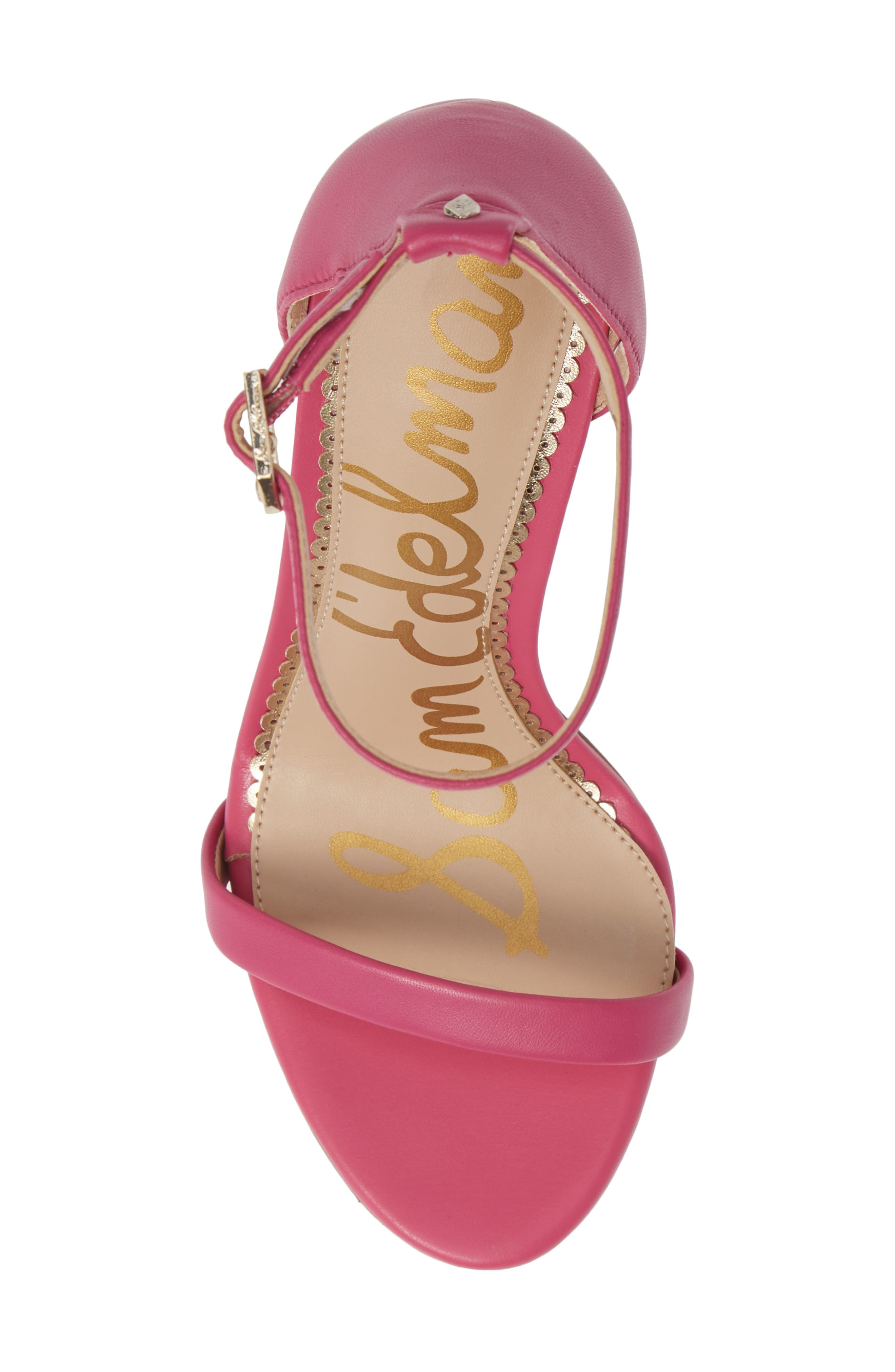 Ariella Ankle Strap Sandal,                             Alternate thumbnail 5, color,                             RETRO PINK LEATHER