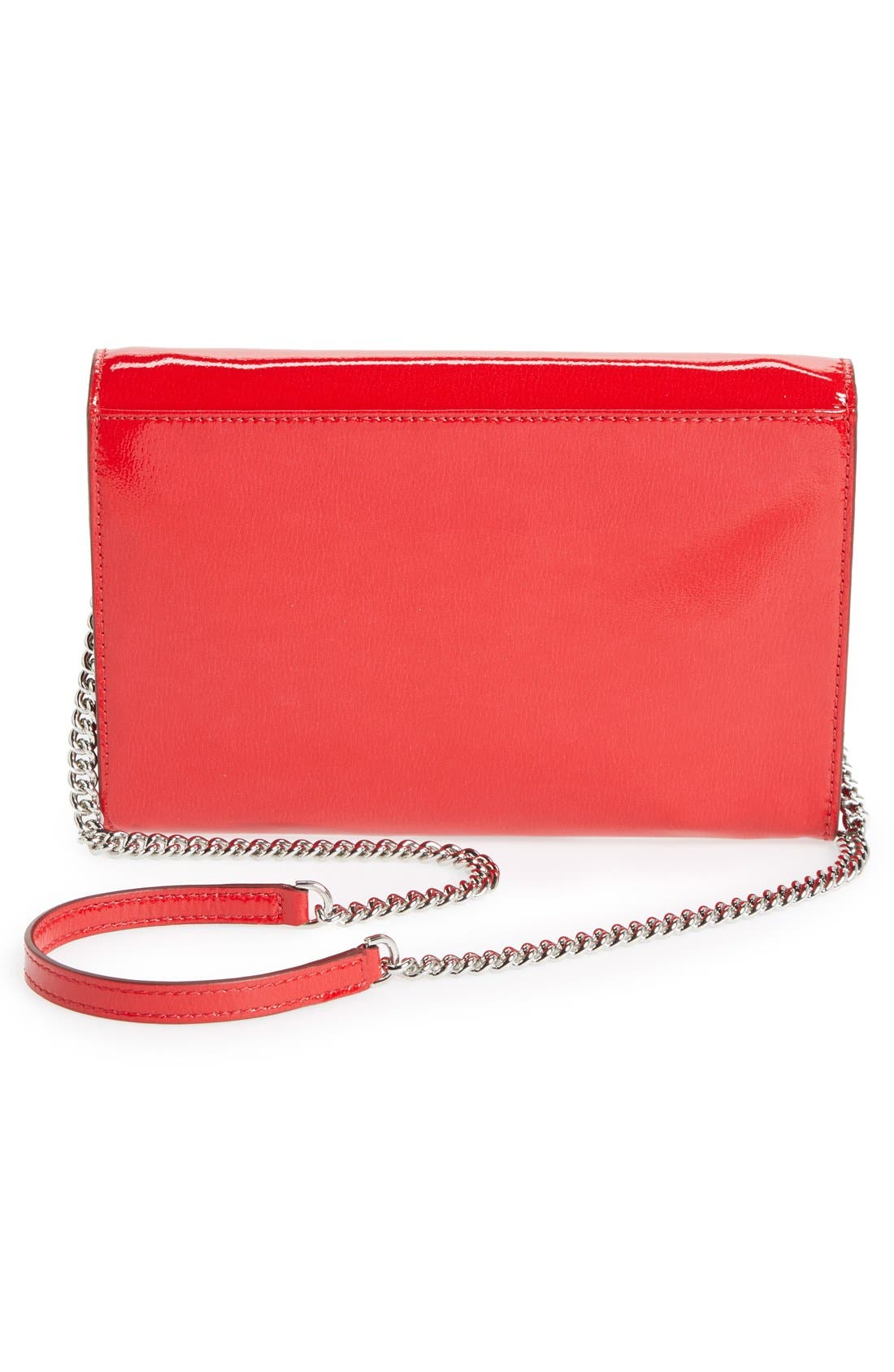 MARC BY MARC JACOBS 'Pegg' Patent Leather Clutch,                             Alternate thumbnail 3, color,                             600