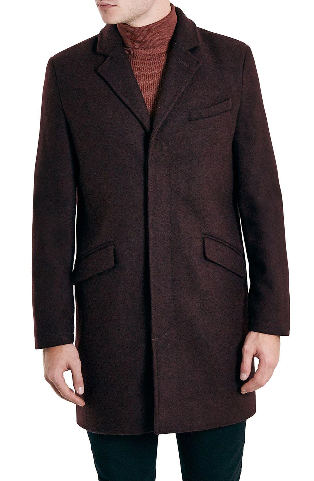 Burgundy Topcoat, Main, color, 930