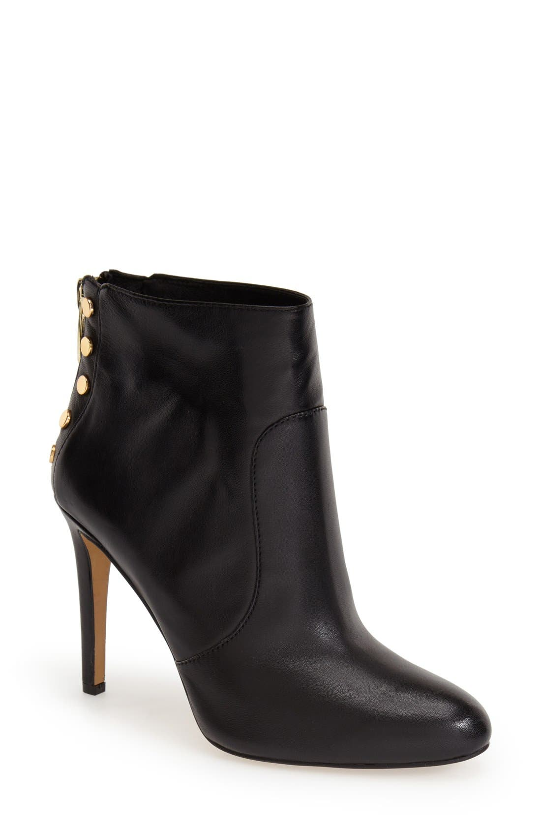 VINCE CAMUTO,                             'Bustell' Studded Bootie,                             Main thumbnail 1, color,                             001