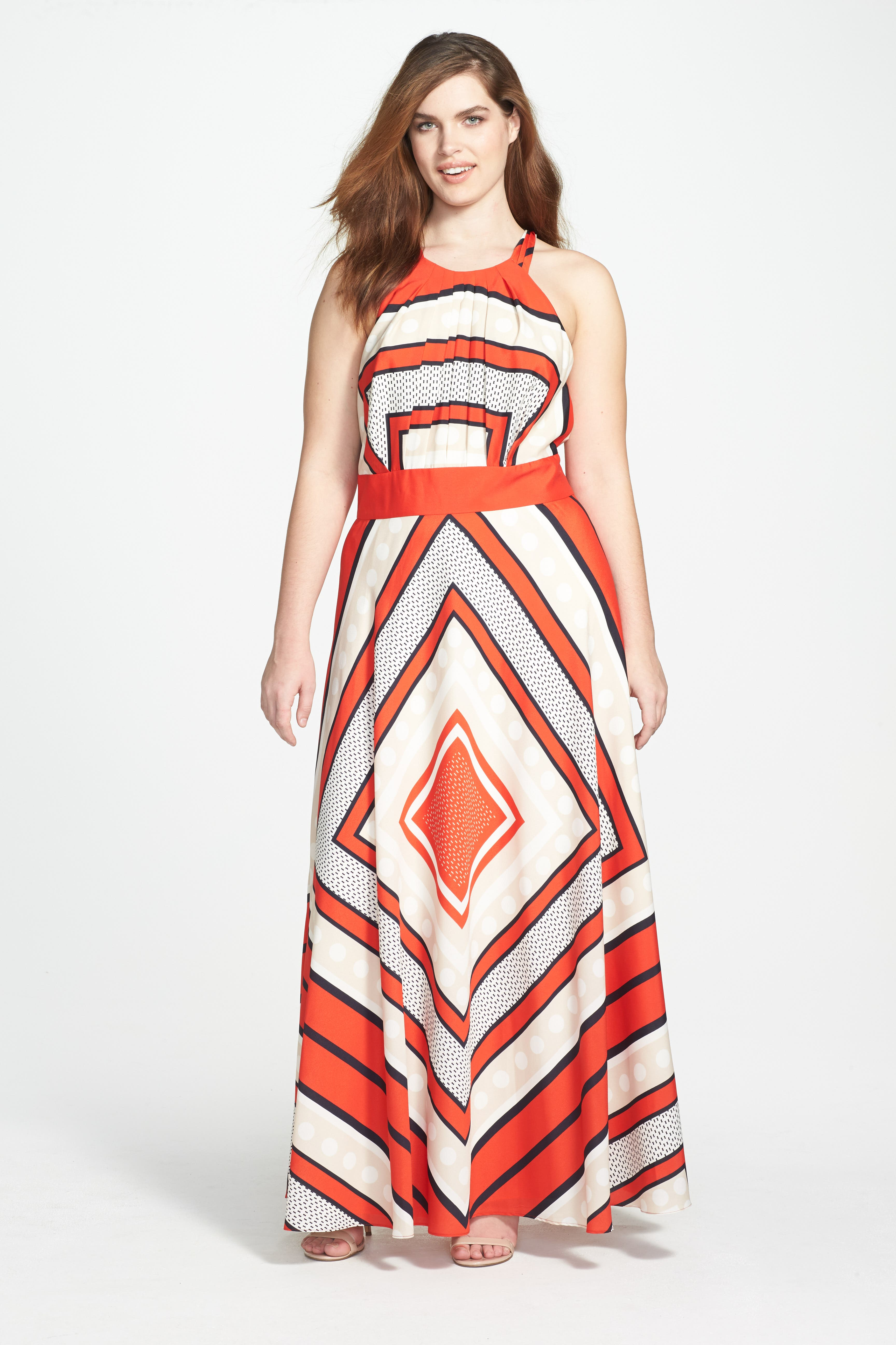 Scarf Print Woven Maxi Dress,                             Alternate thumbnail 6, color,                             PRINT