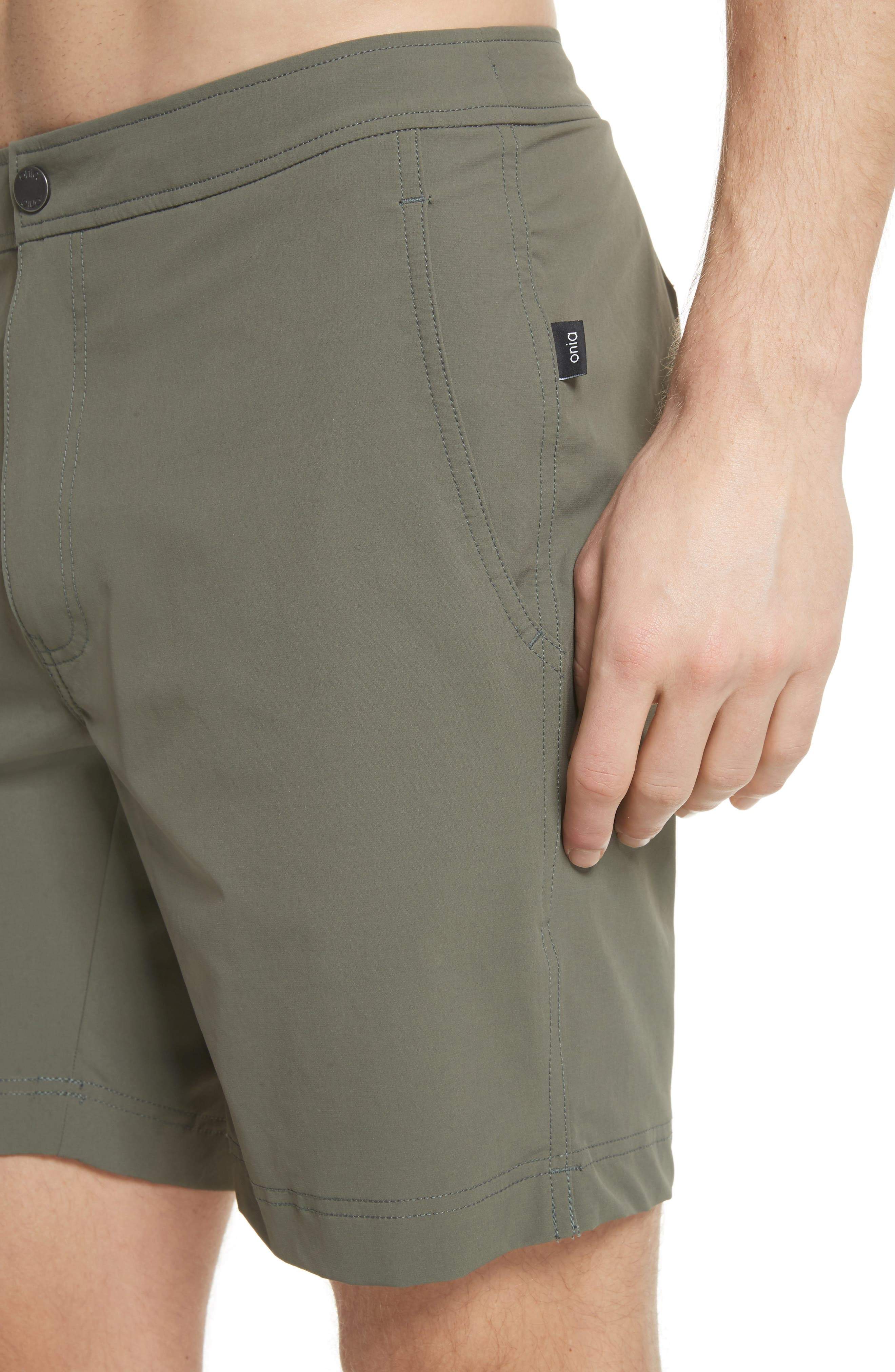 Calder Swim Trunks,                             Alternate thumbnail 4, color,                             DEEP SAGE