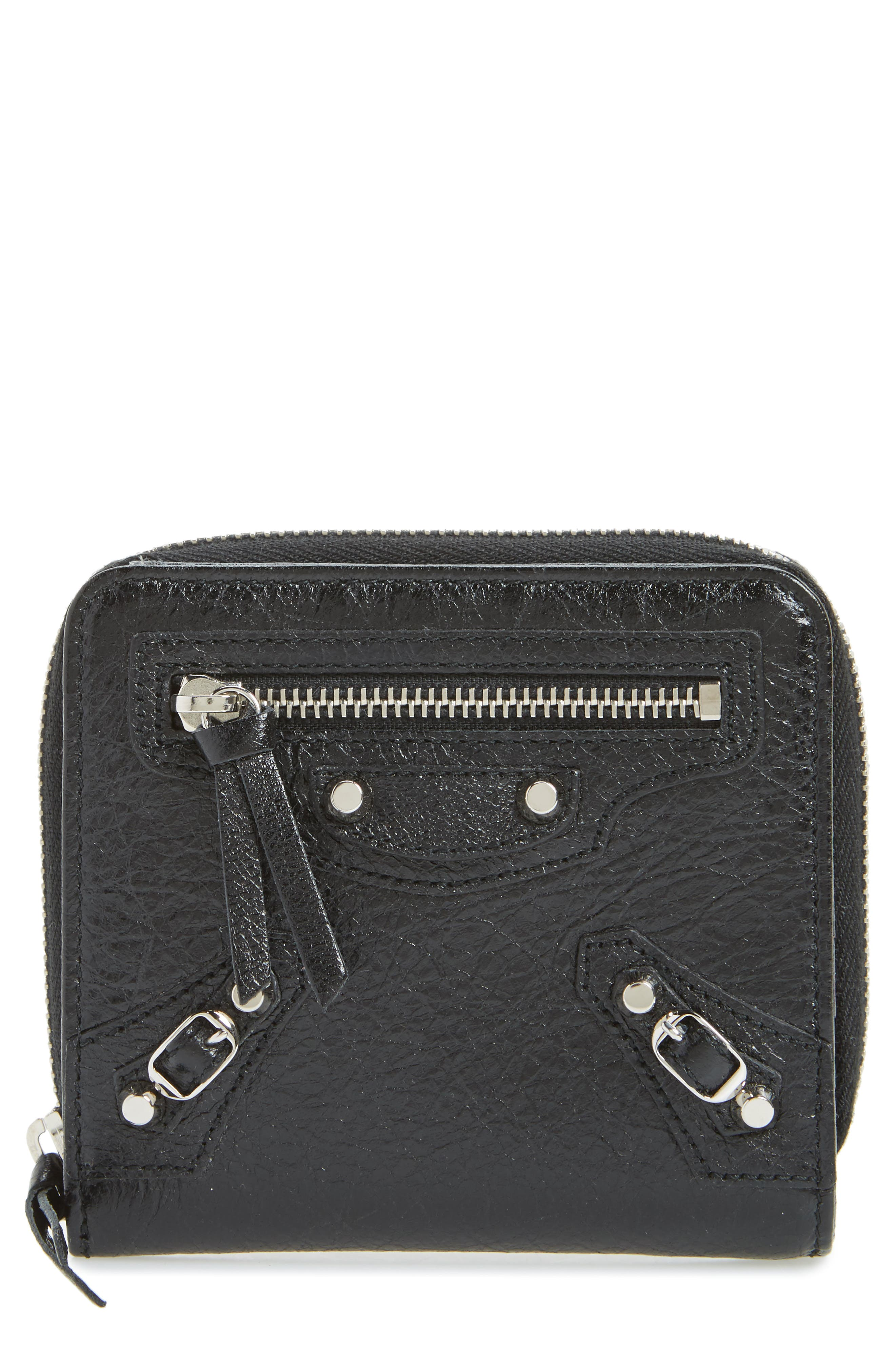 Classic Leather Billfold,                         Main,                         color, 1000 NOIR