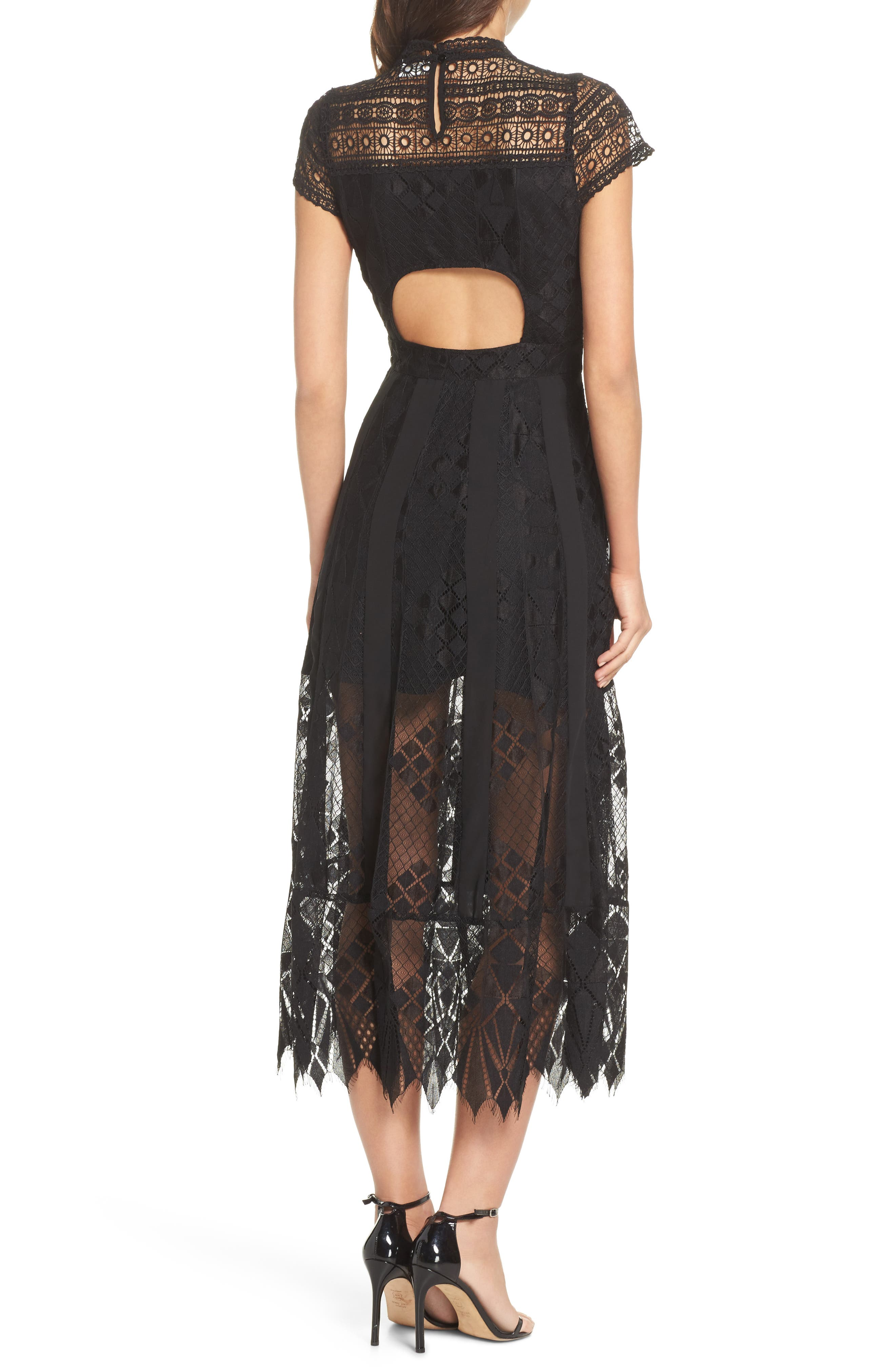 Calla Lace Midi Dress,                             Alternate thumbnail 2, color,                             001