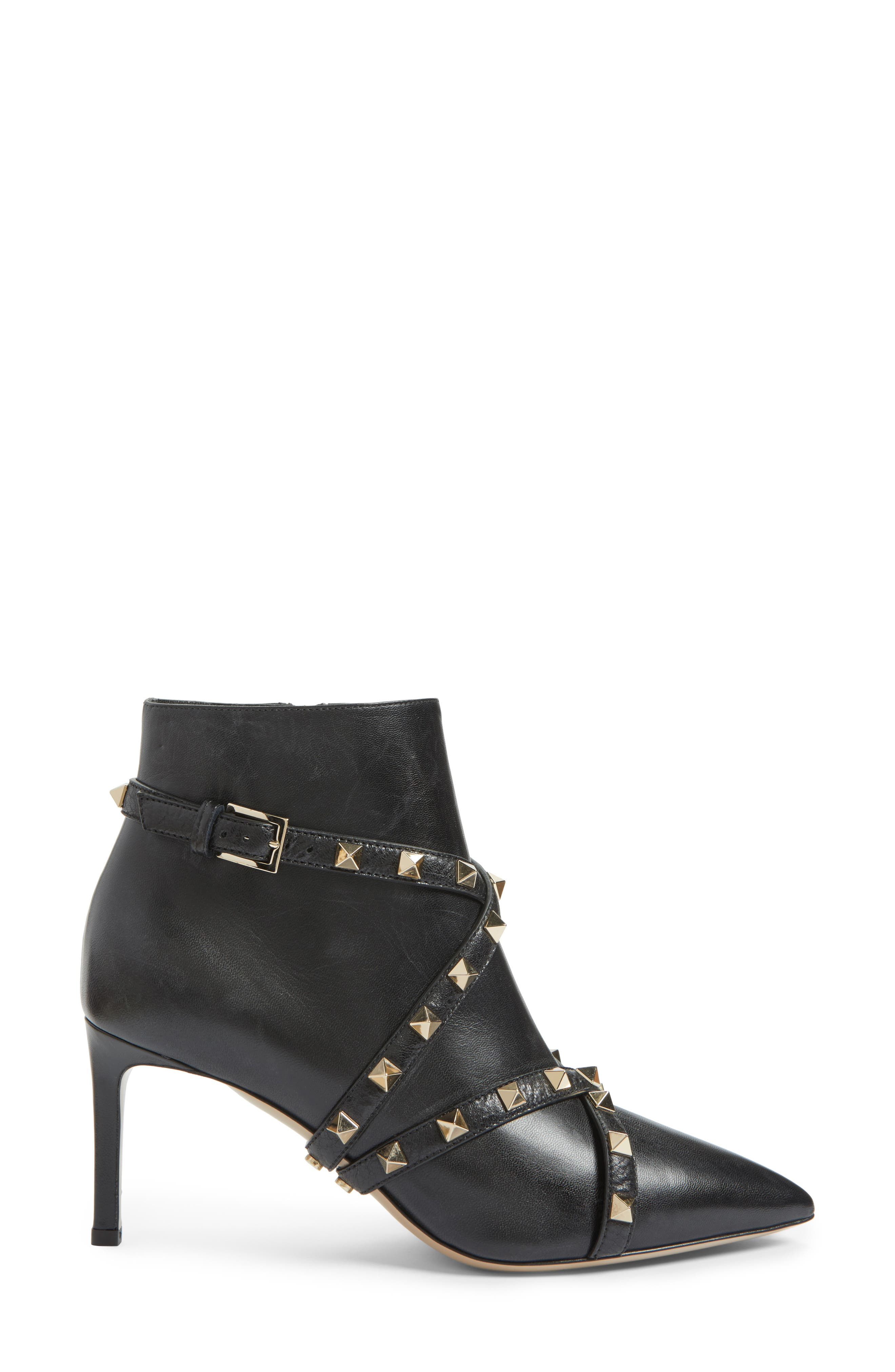 Rockstud Wrapped Bootie,                             Alternate thumbnail 3, color,                             001