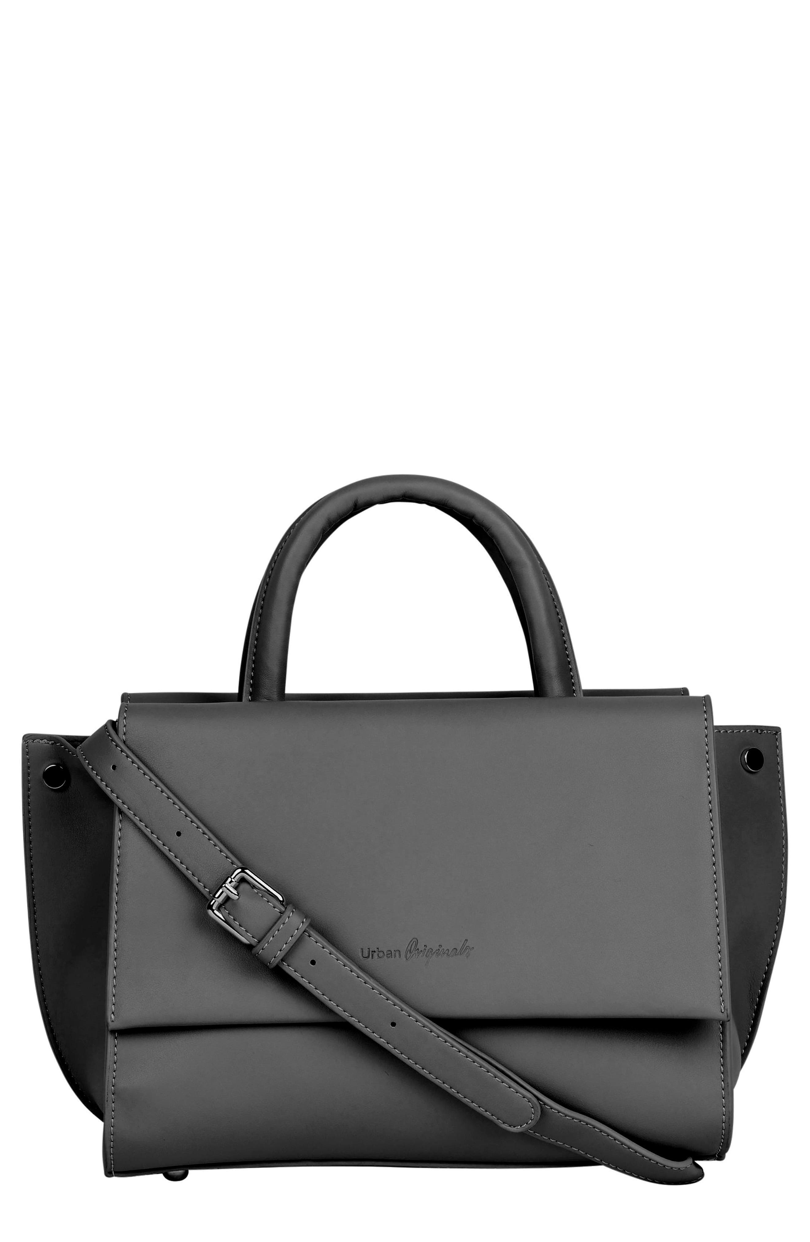 Ethereal Vegan Leather Tote,                         Main,                         color, BLACK