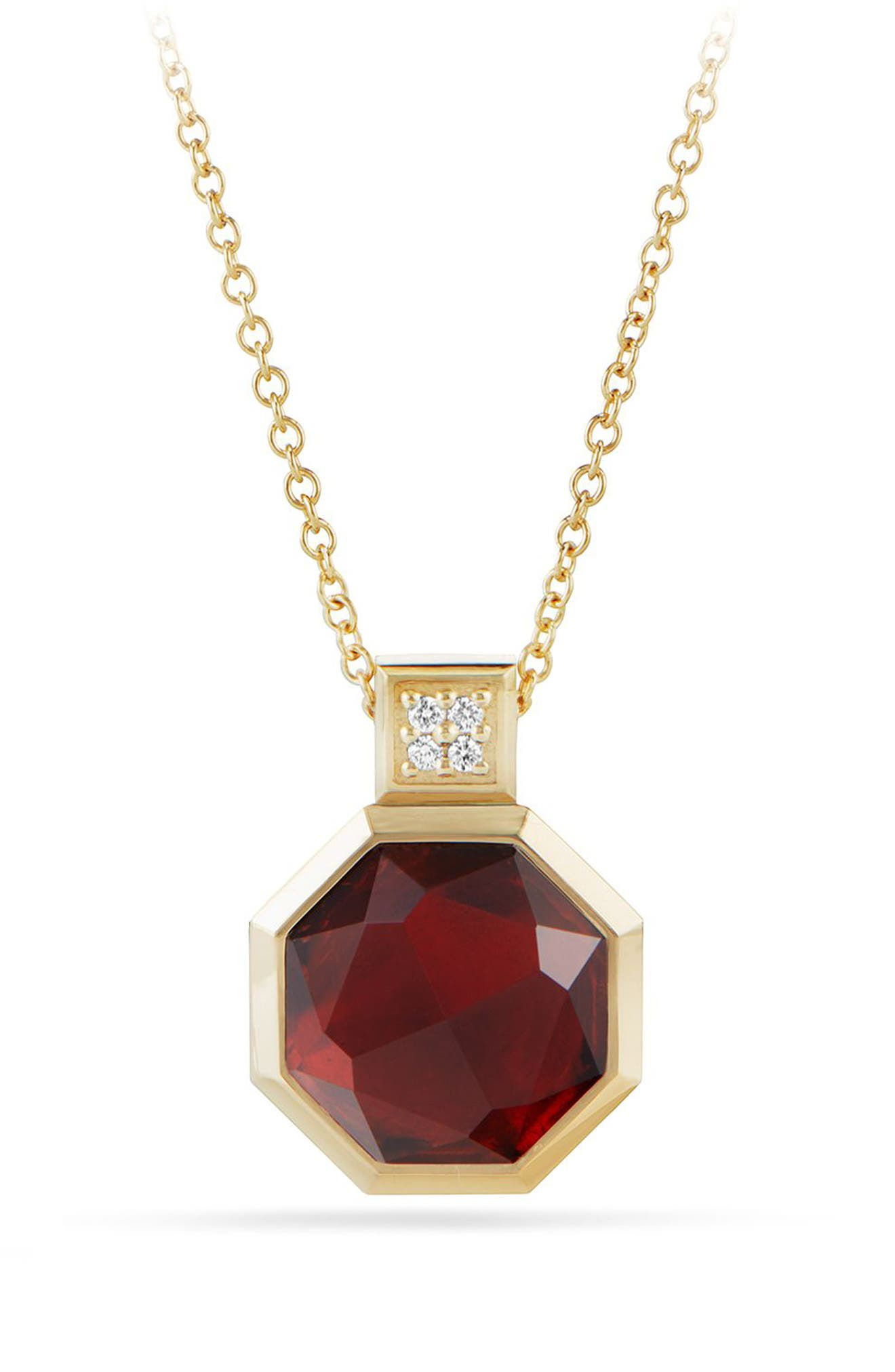 Guilin Octagon Pendant Necklace,                         Main,                         color, YELLOW GOLD/ DIAMOND