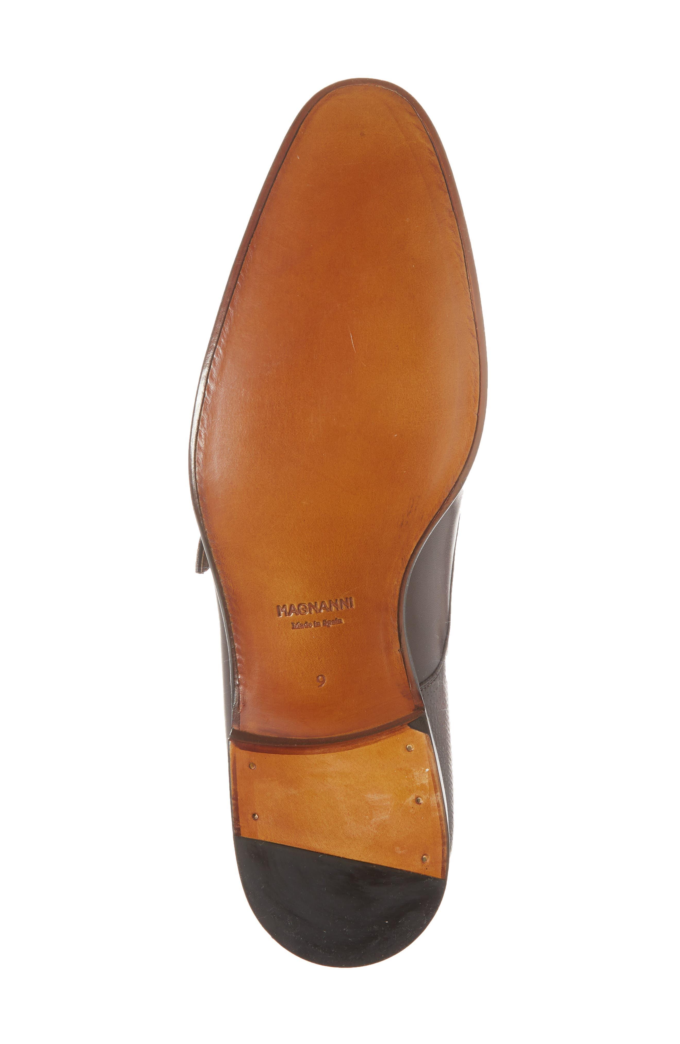 Arlo Pebbled Monk Shoe,                             Alternate thumbnail 6, color,                             BURGUNDY LEATHER