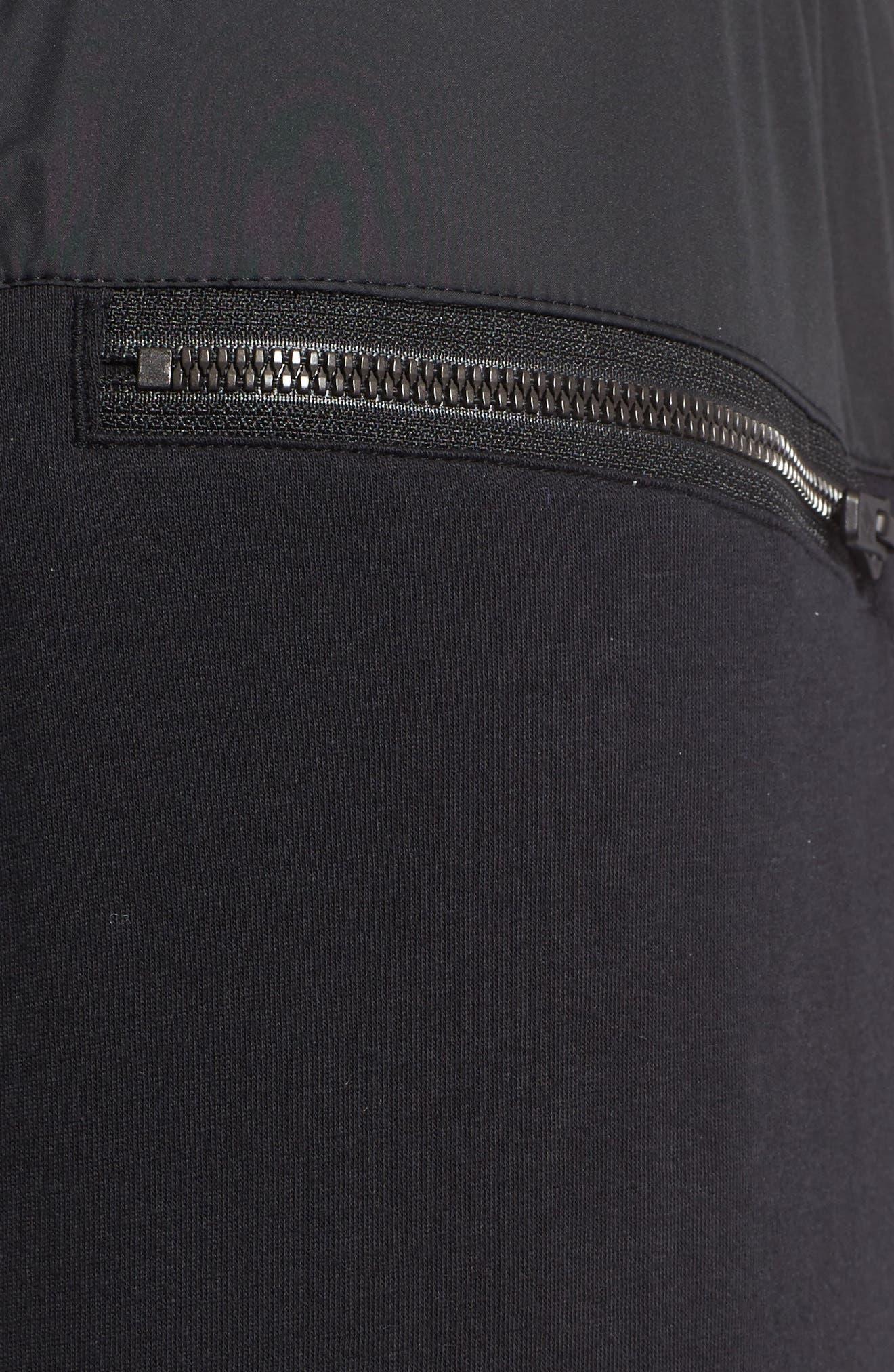 Modern Jogger Pants,                             Alternate thumbnail 4, color,                             BLACK/ BLACK