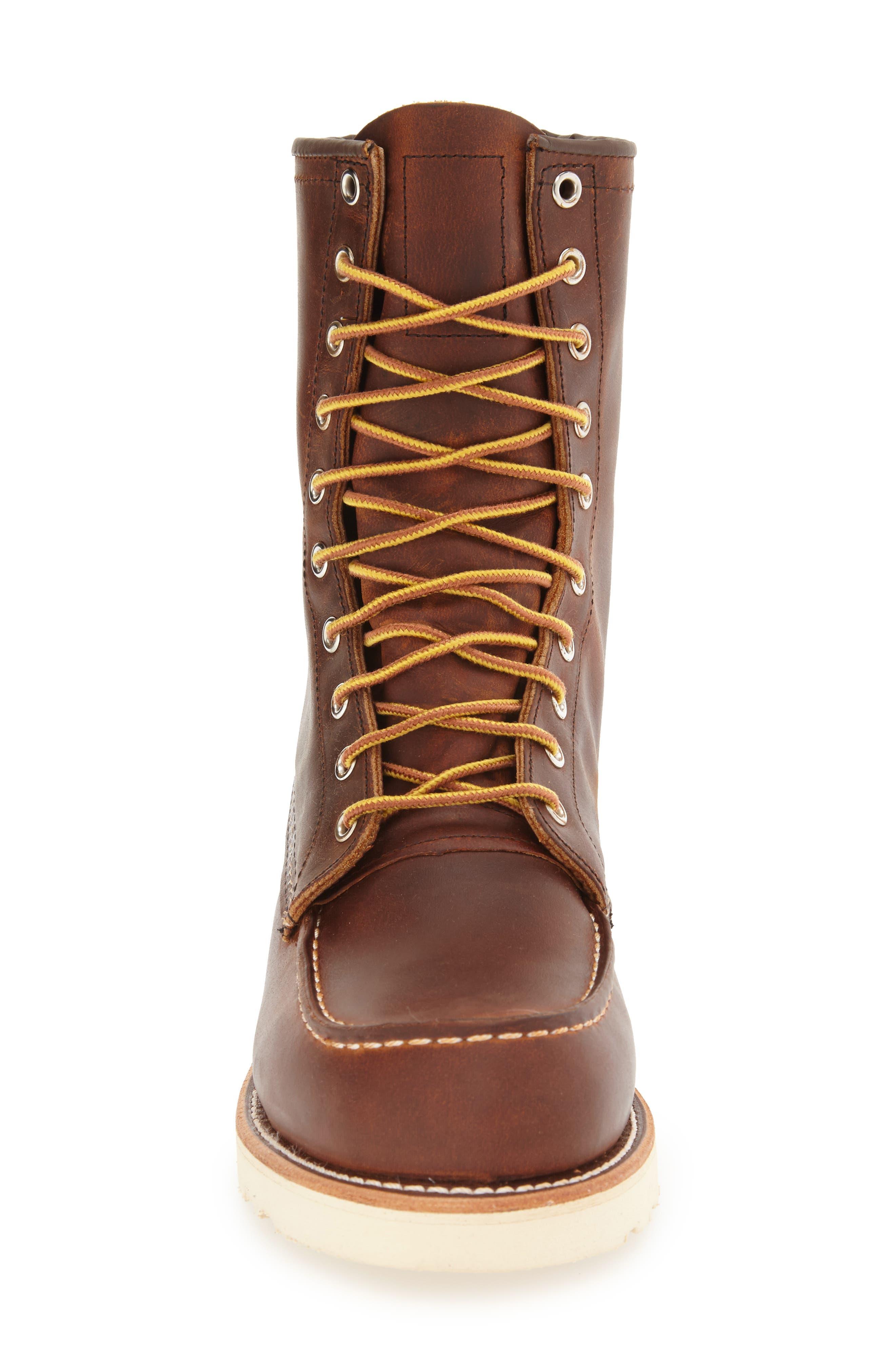 '877' Moc Toe Boot,                             Alternate thumbnail 3, color,                             COPPER LEATHER