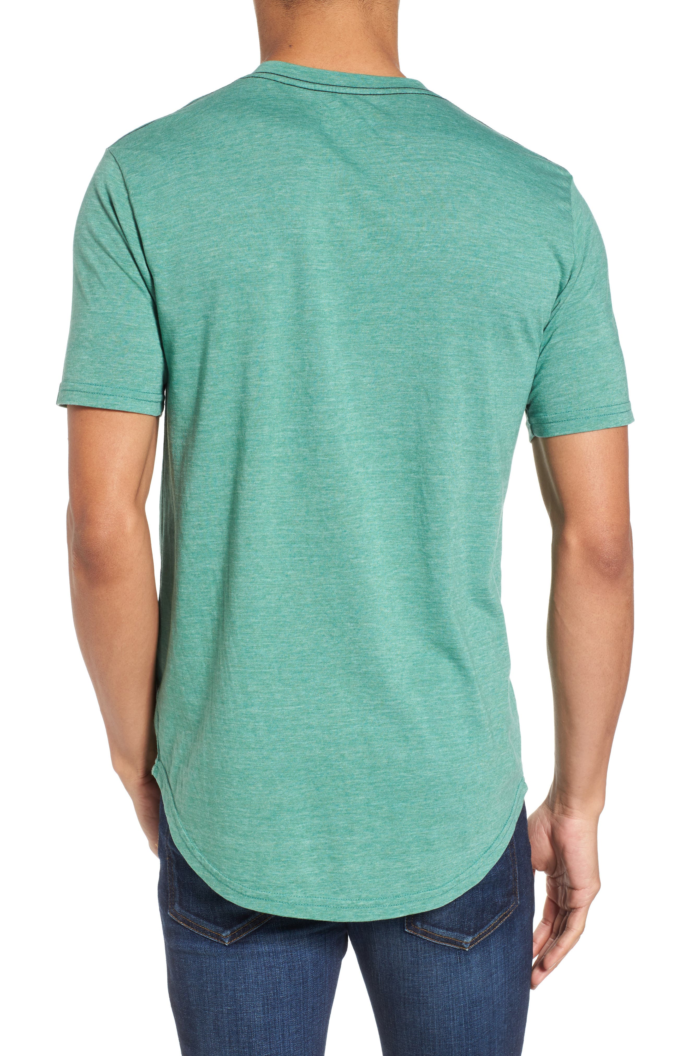 Scallop Triblend V-Neck T-Shirt,                             Alternate thumbnail 29, color,