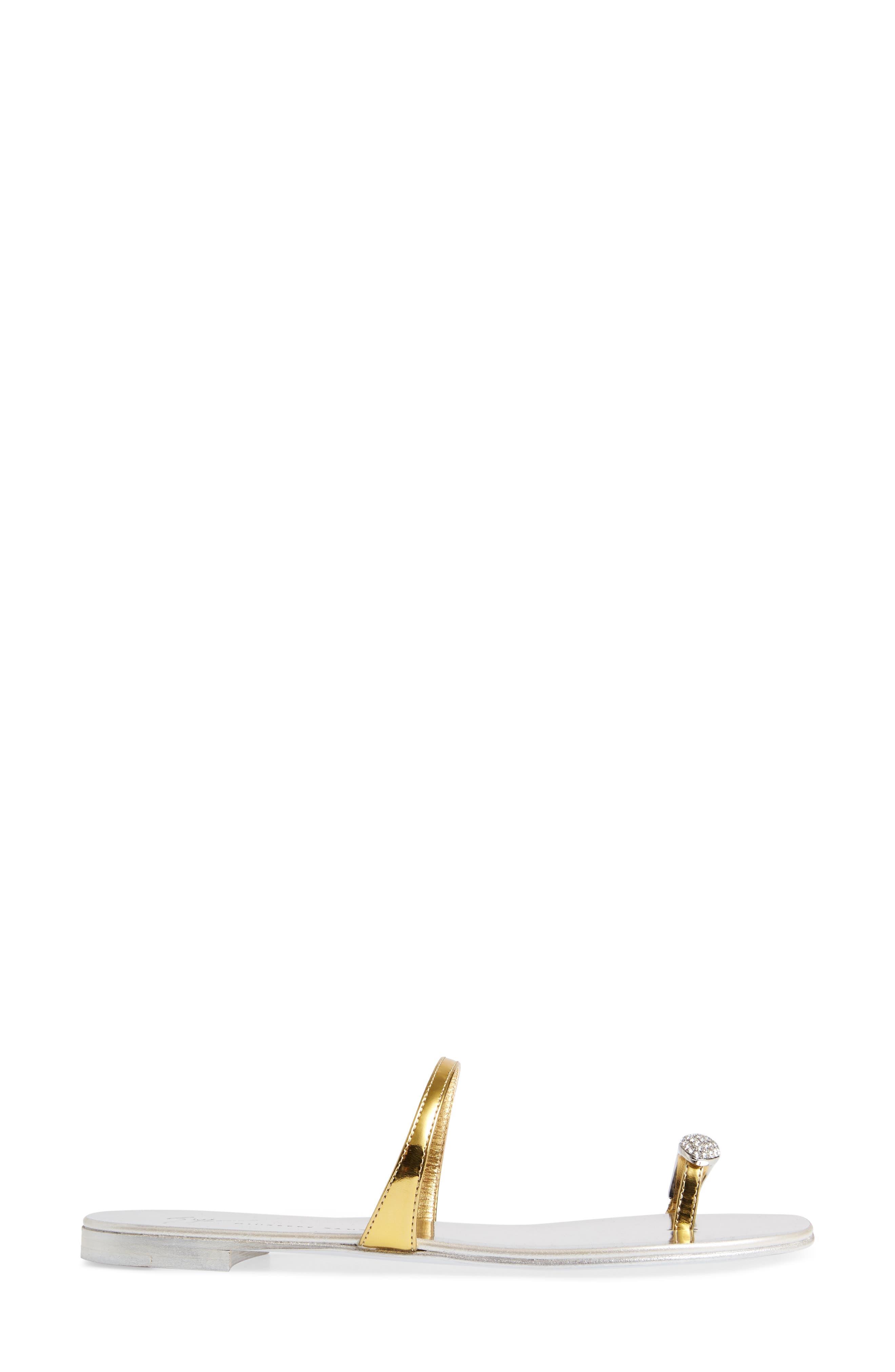 Nuvorock Crystal Embellished Toe Loop Sandal,                             Alternate thumbnail 3, color,                             710