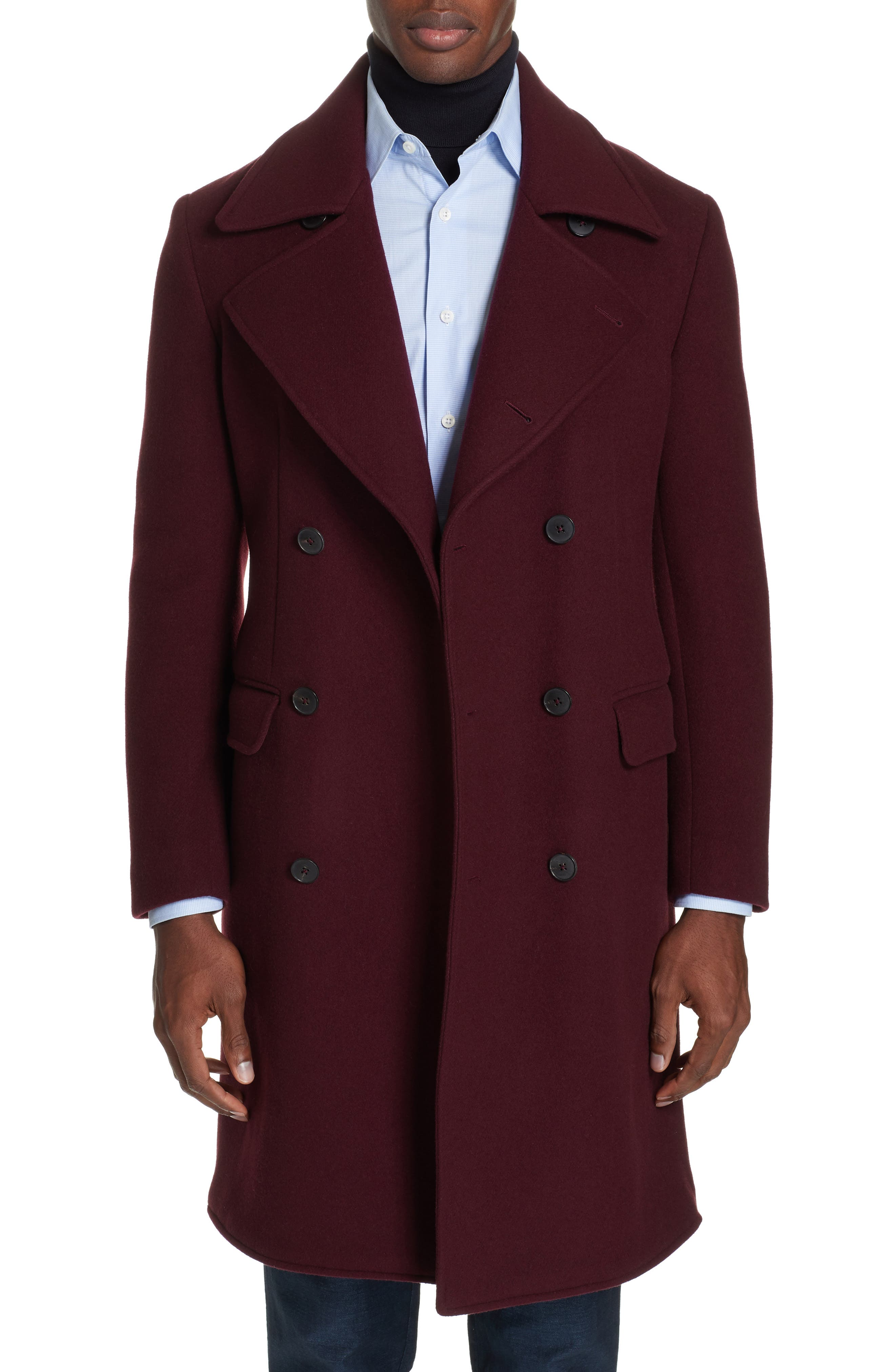 Double Breasted Wool & Cashmere Overcoat,                         Main,                         color, 930
