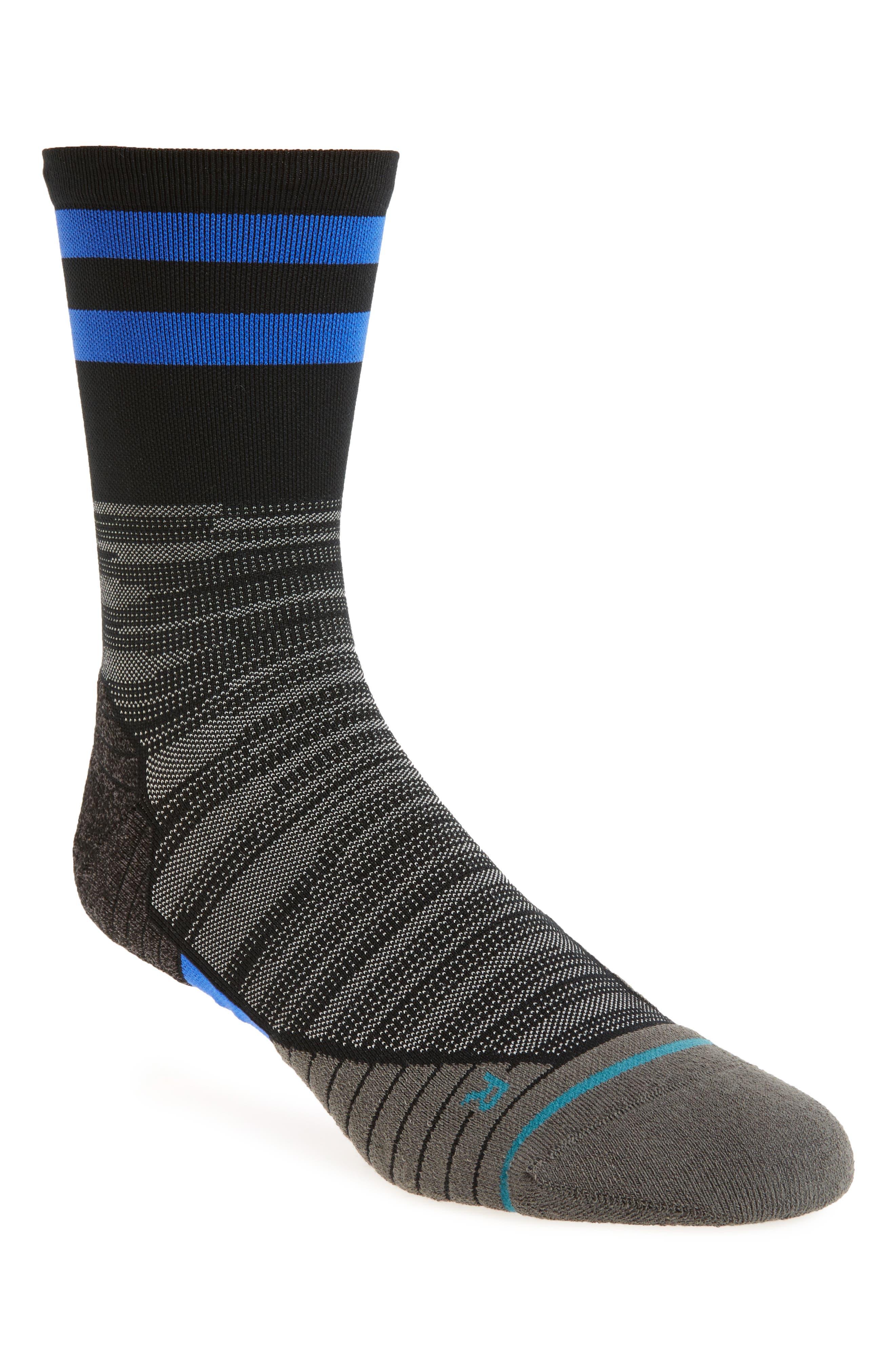 Uncommon Solids Crew Socks,                             Main thumbnail 1, color,                             001