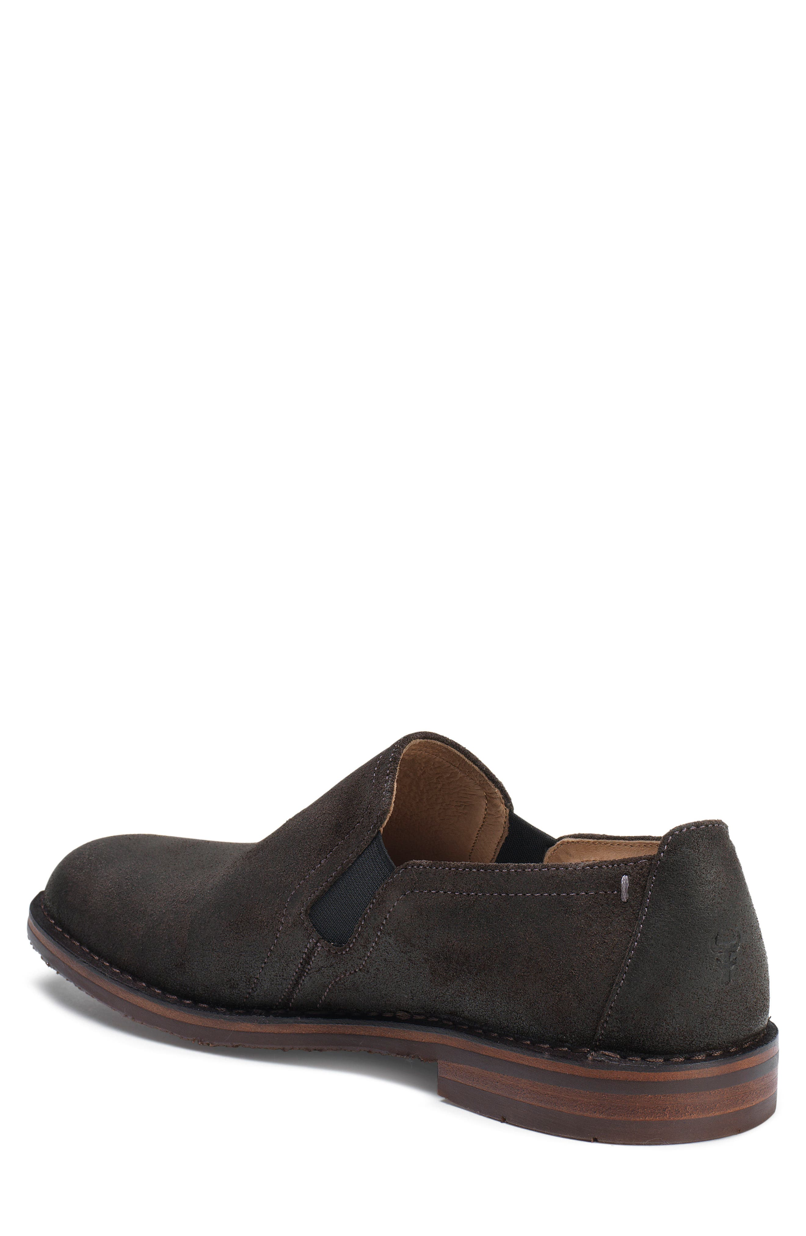 'Blaine' Venetian Loafer,                             Alternate thumbnail 2, color,                             GRAY WAXED SUEDE