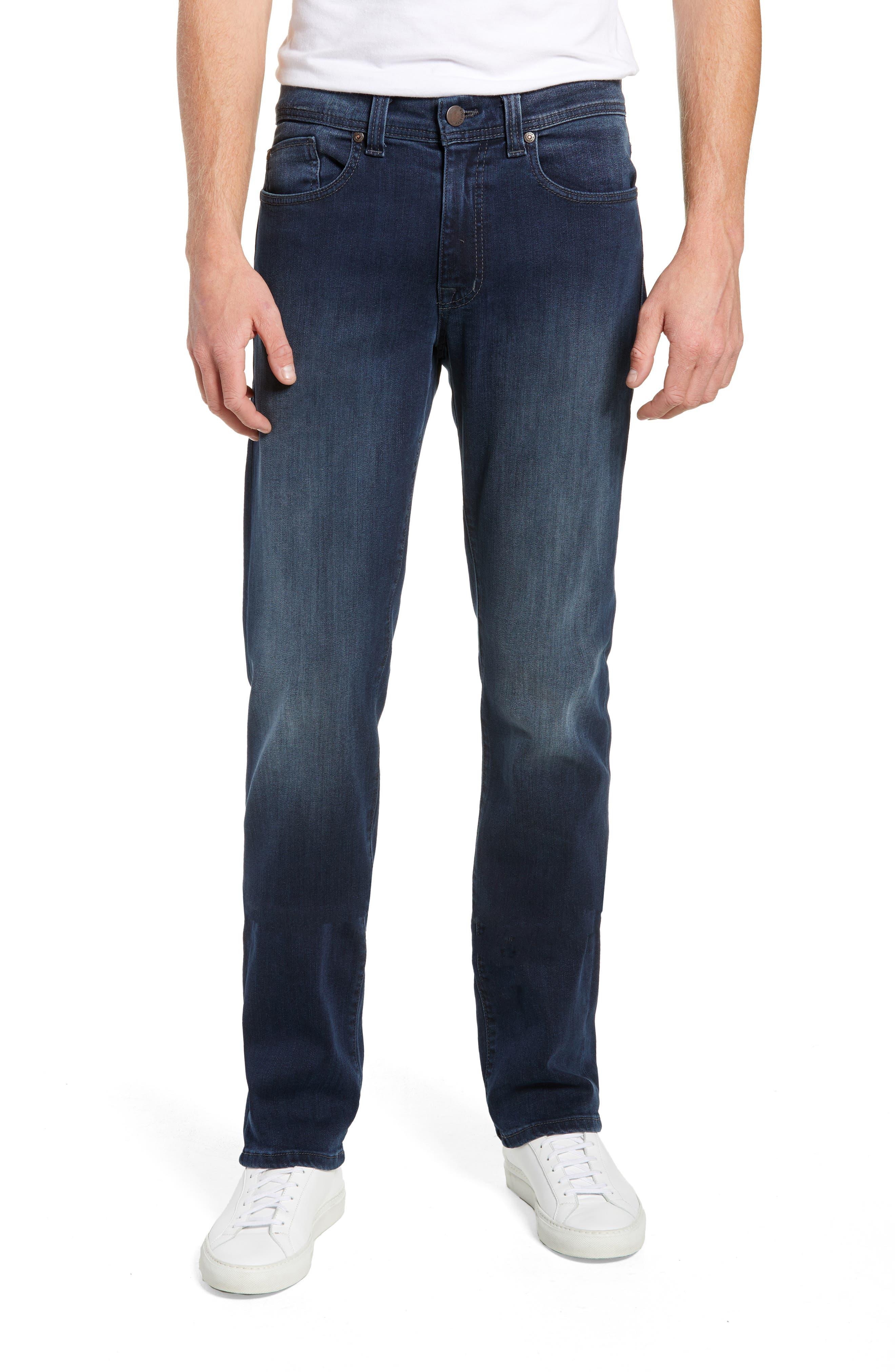Fidelity Slim Straight Leg Jeans,                             Main thumbnail 1, color,                             BEL AIR BLUE