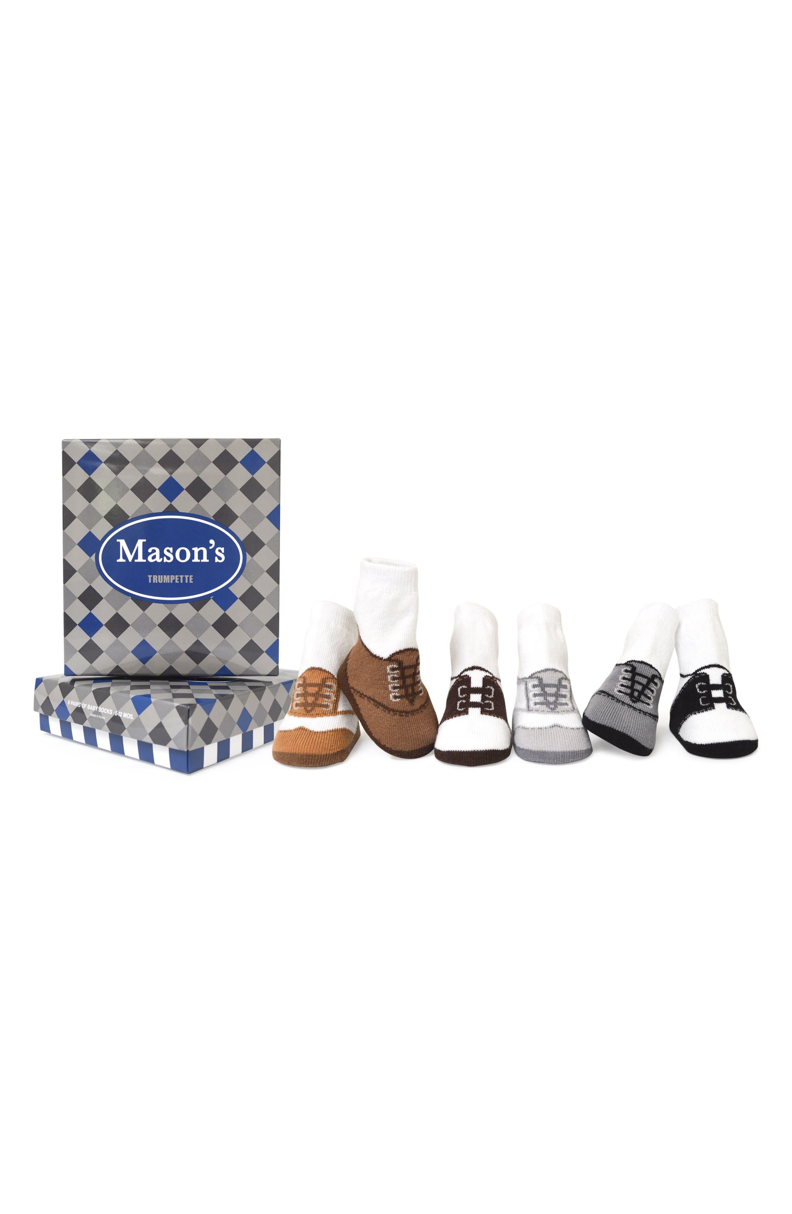 Mason's 6-Pack Socks,                         Main,                         color, 100