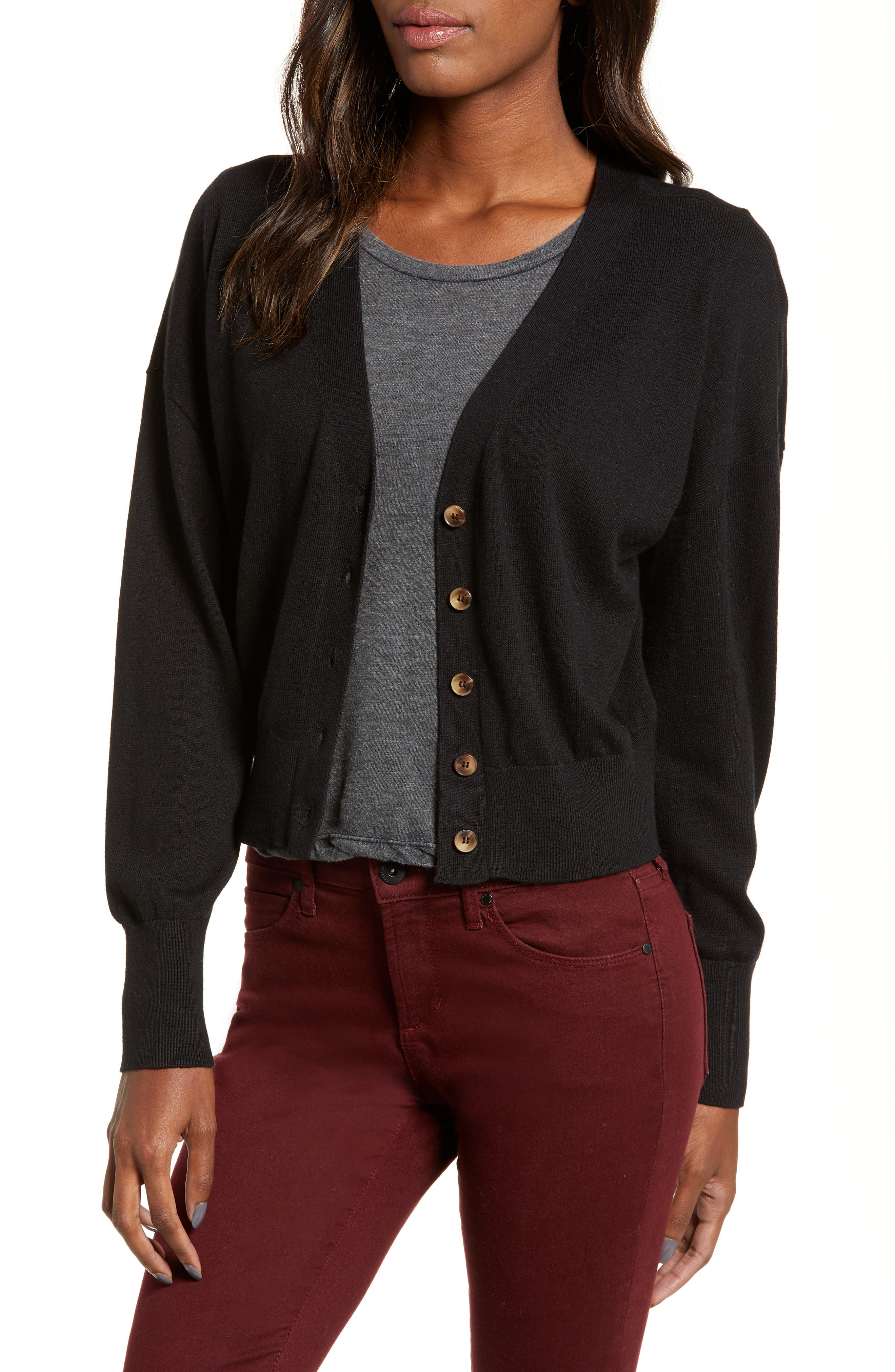 BP. All Day Cardigan, Main, color, BLACK