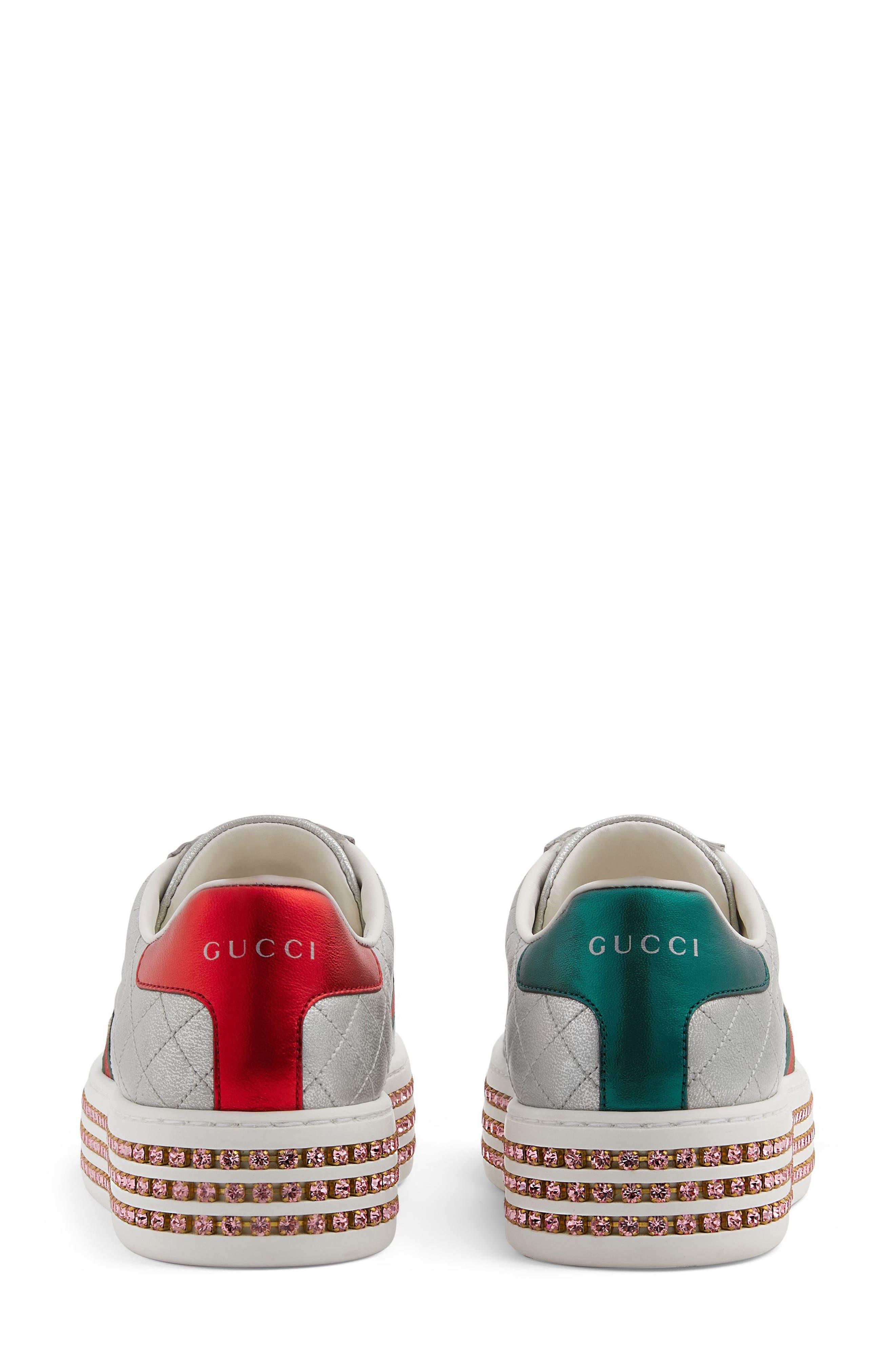 New Ace Platform Sneaker,                             Alternate thumbnail 5, color,                             ARGENTO LEATHER