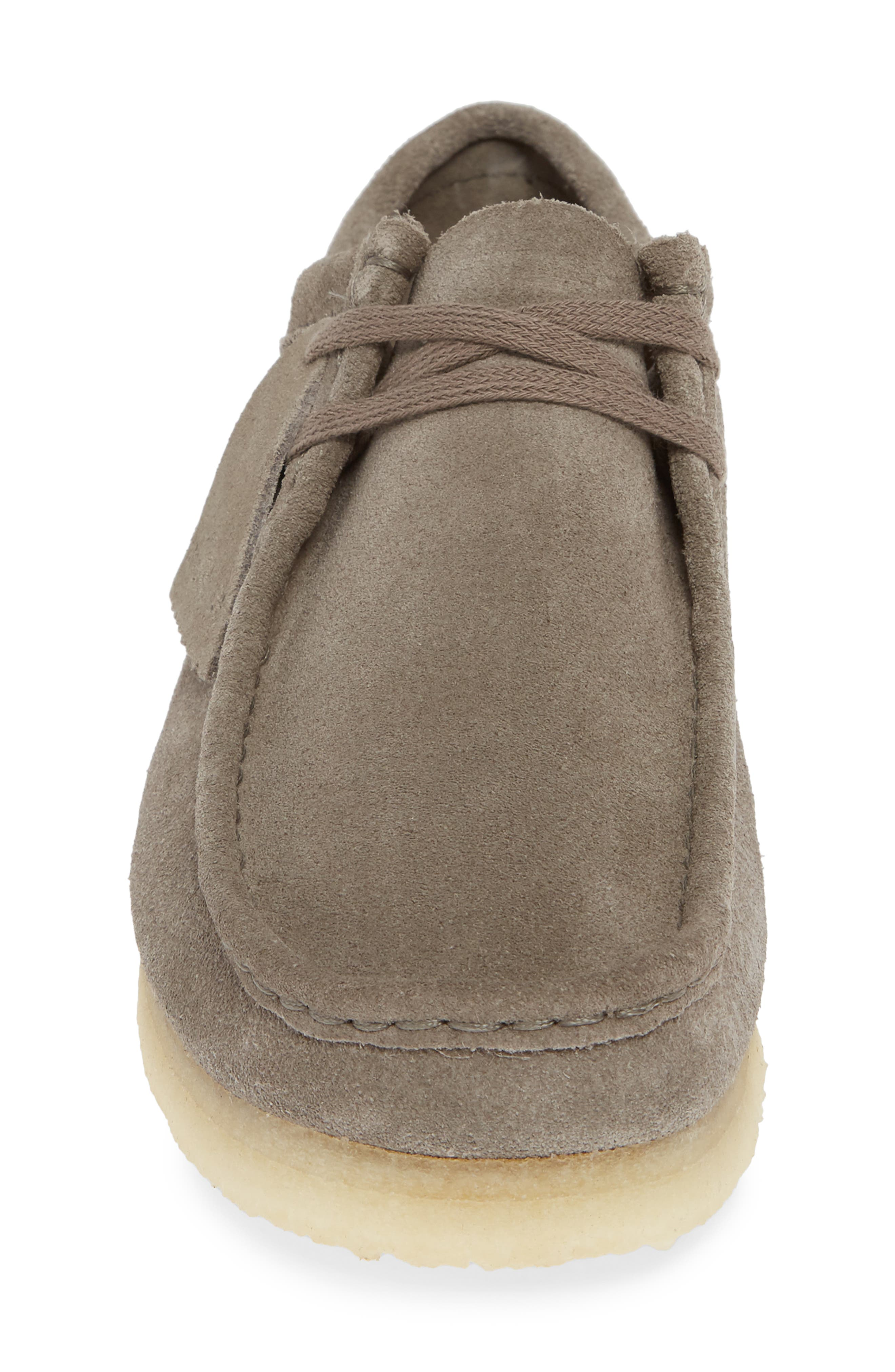 'Wallabee' Moc Toe Derby,                             Alternate thumbnail 4, color,                             GREY LEATHER