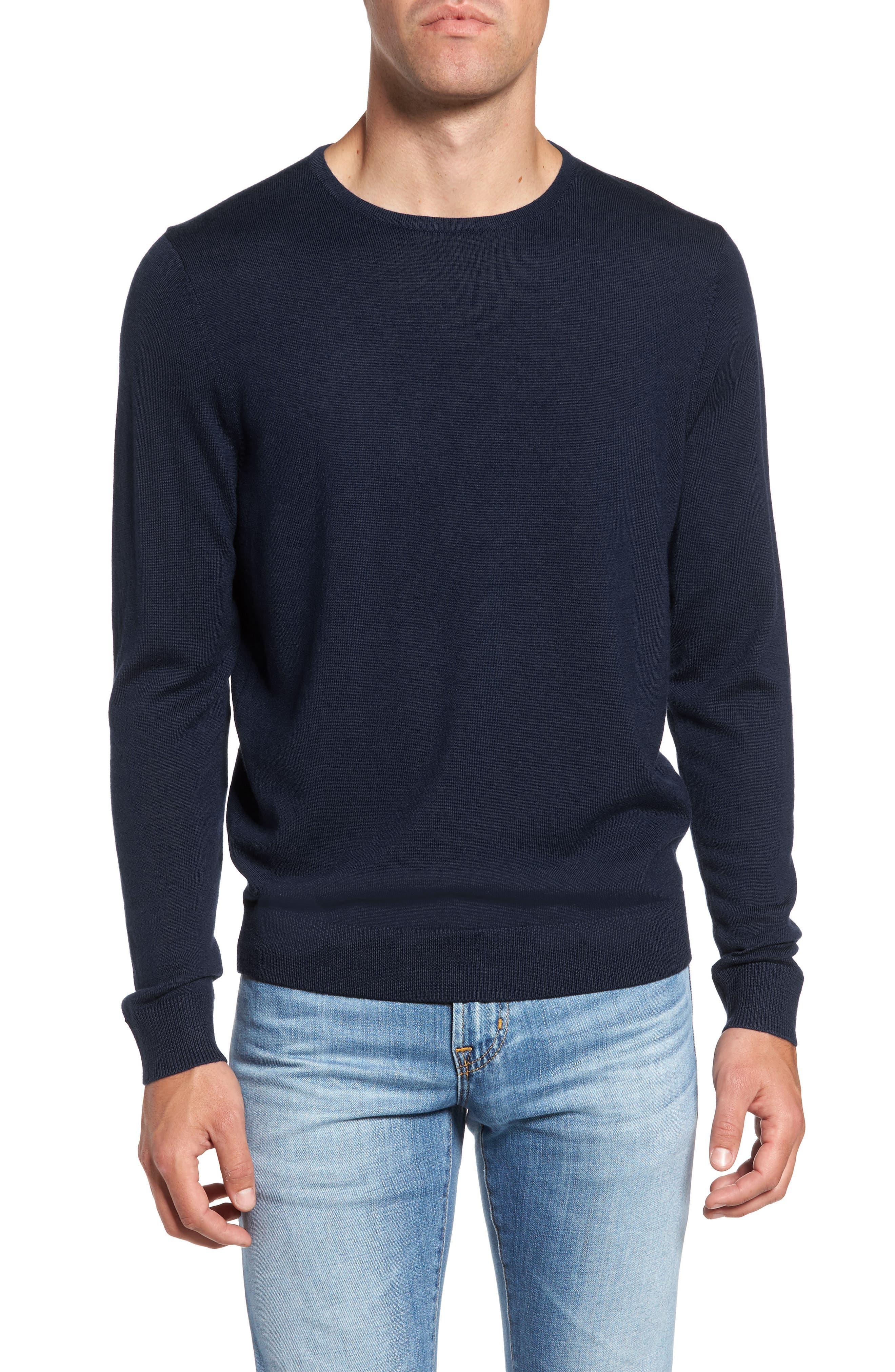 Big & Tall Nordstrom Shop Merino Wool Sweater, Blue