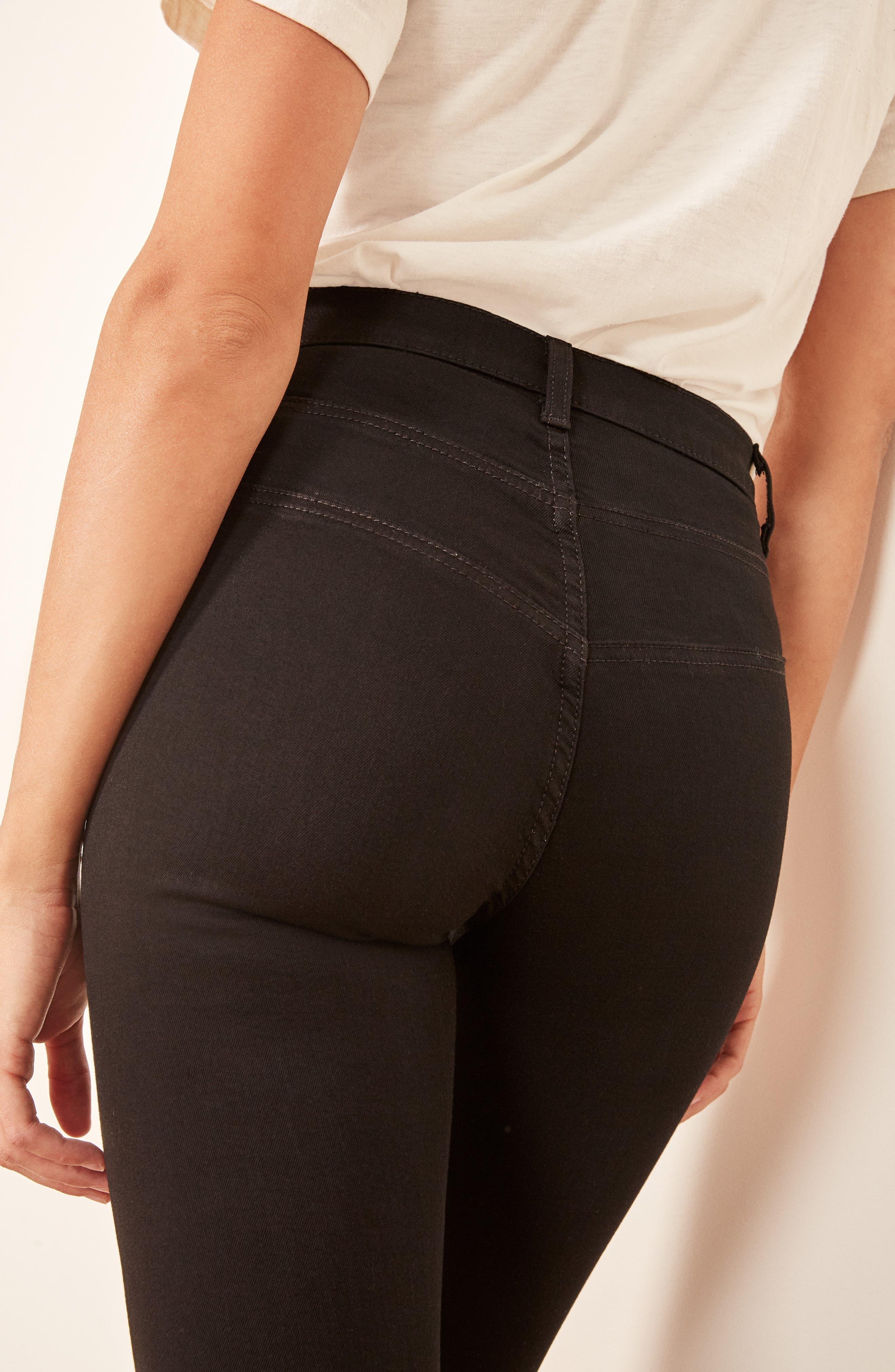 Suzie Skinny Jeans,                             Alternate thumbnail 6, color,                             BLACK