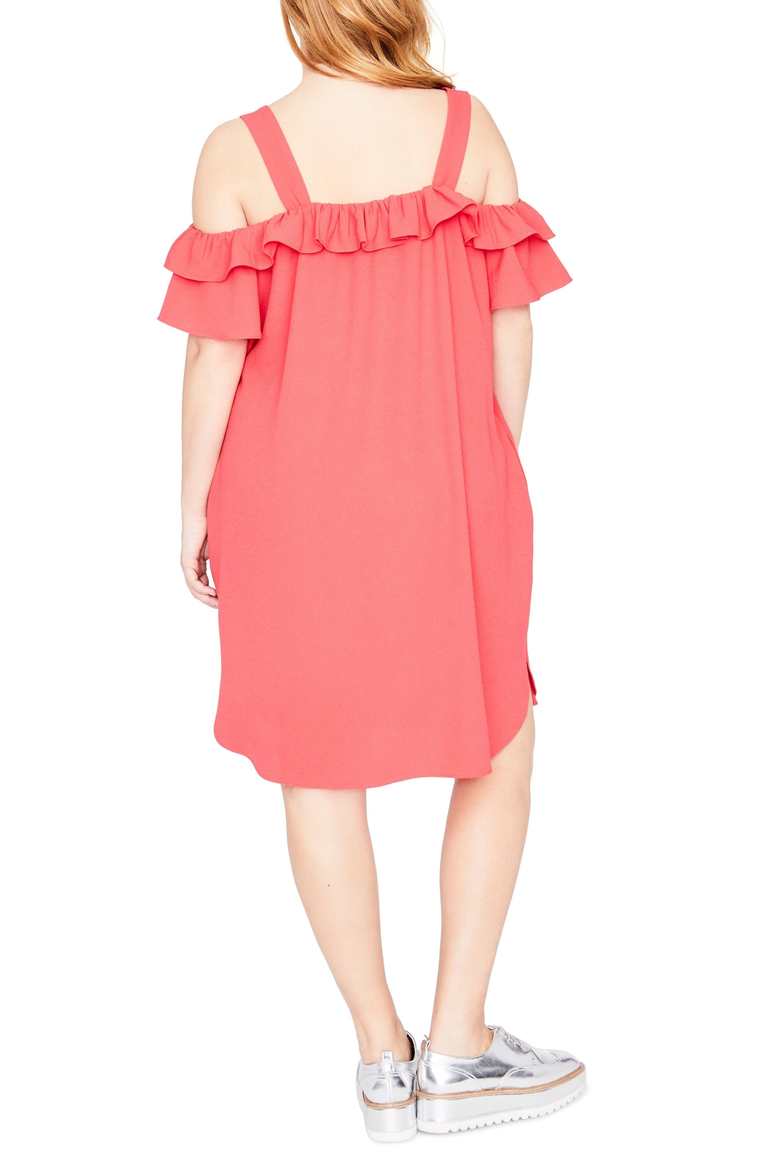 Ruffle Edge Dress,                             Alternate thumbnail 2, color,                             648