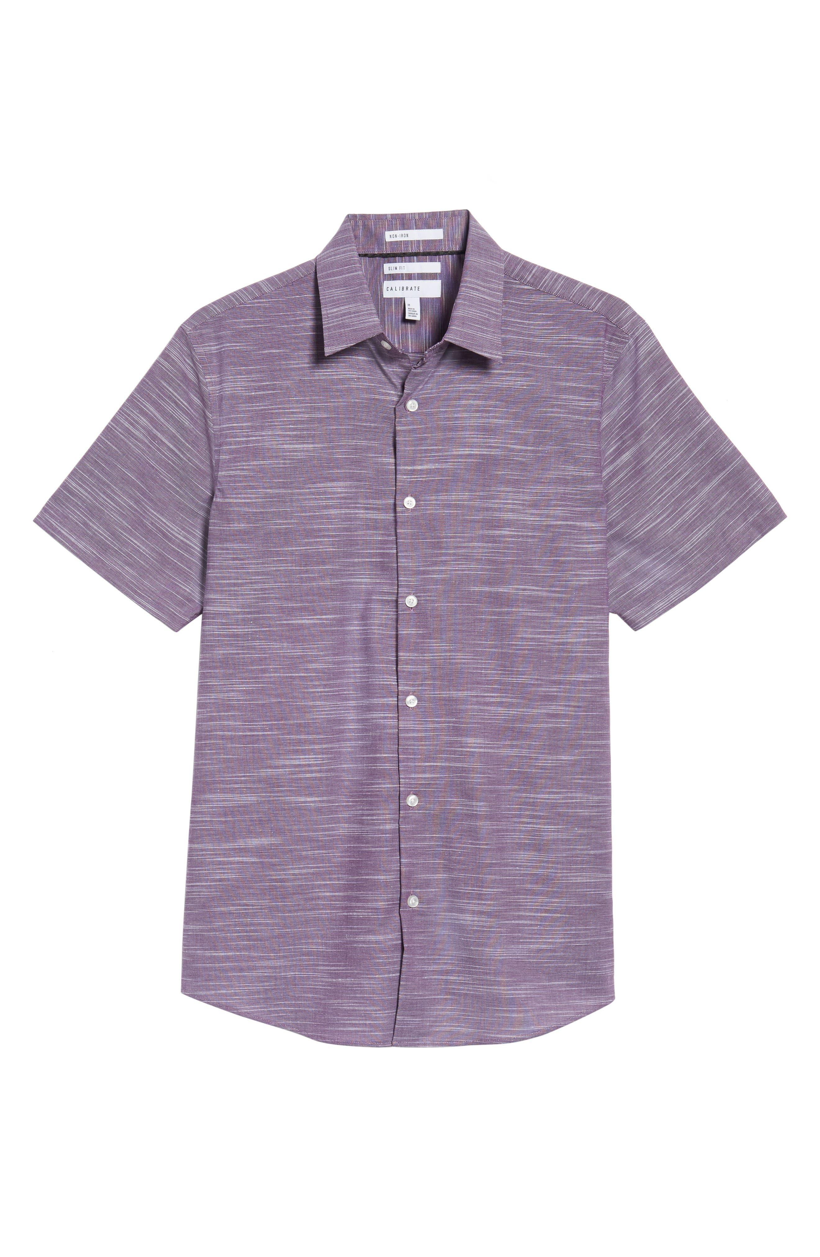 Calilbrate Slim Fit Slub Woven Shirt,                             Alternate thumbnail 18, color,