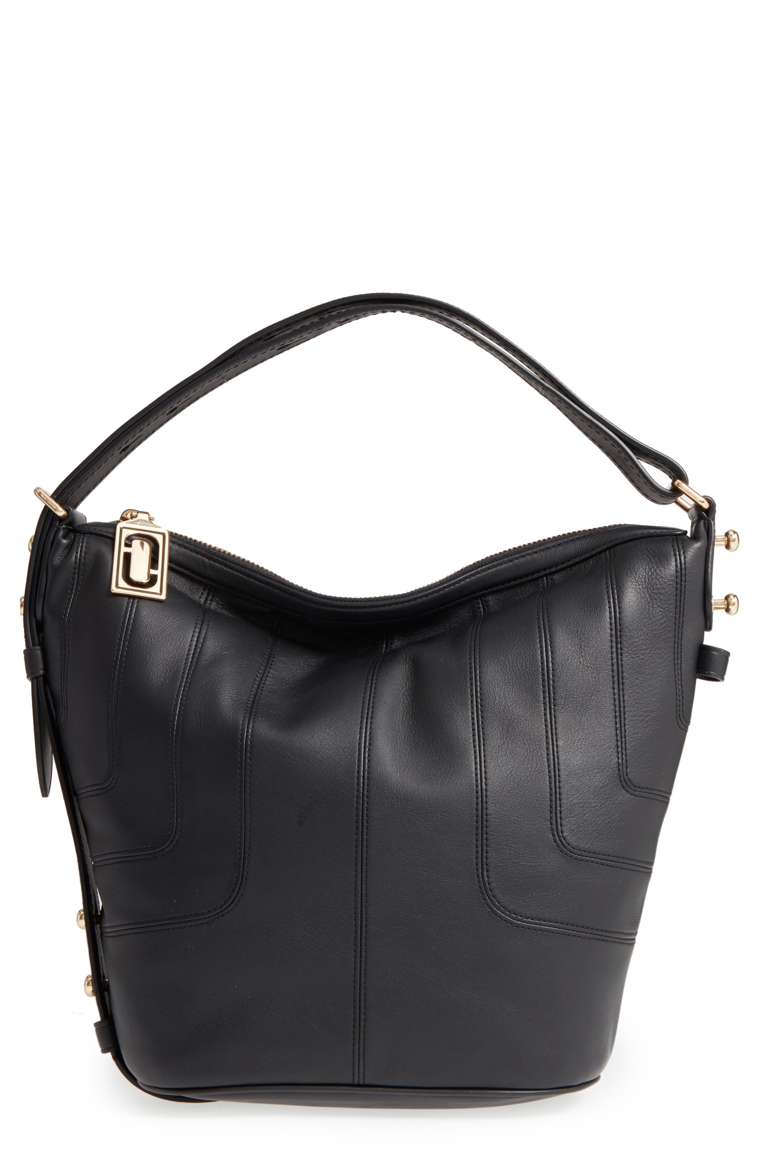 The Sling Mod Leather Hobo/Crossbody/Sling Bag,                         Main,                         color, 001