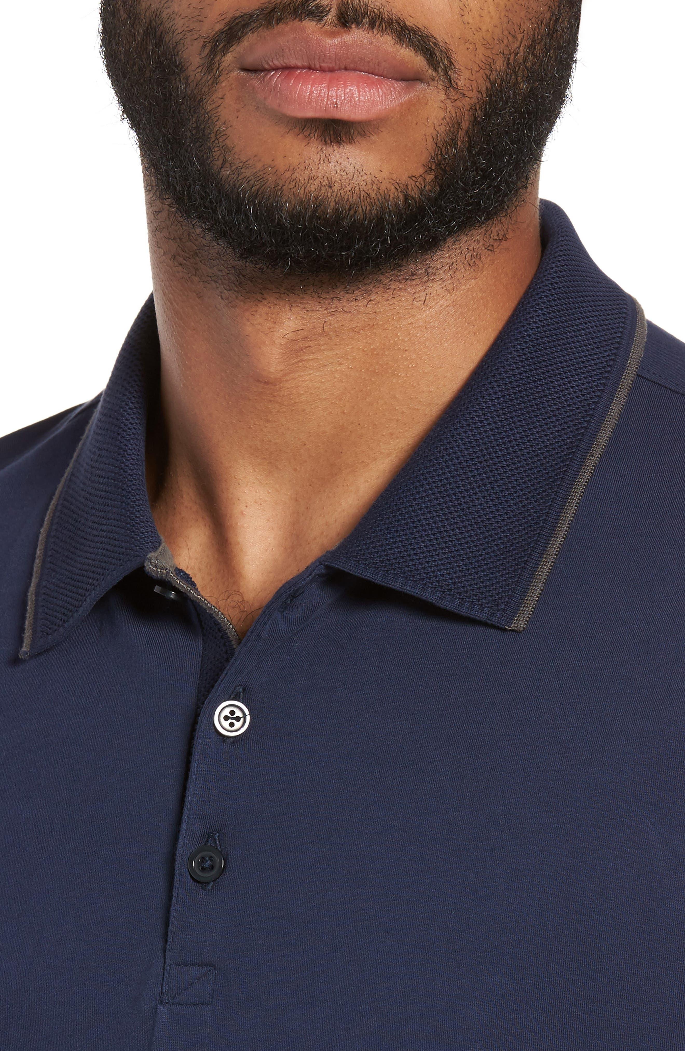 Grindstone Slim Fit Polo,                             Alternate thumbnail 4, color,                             410