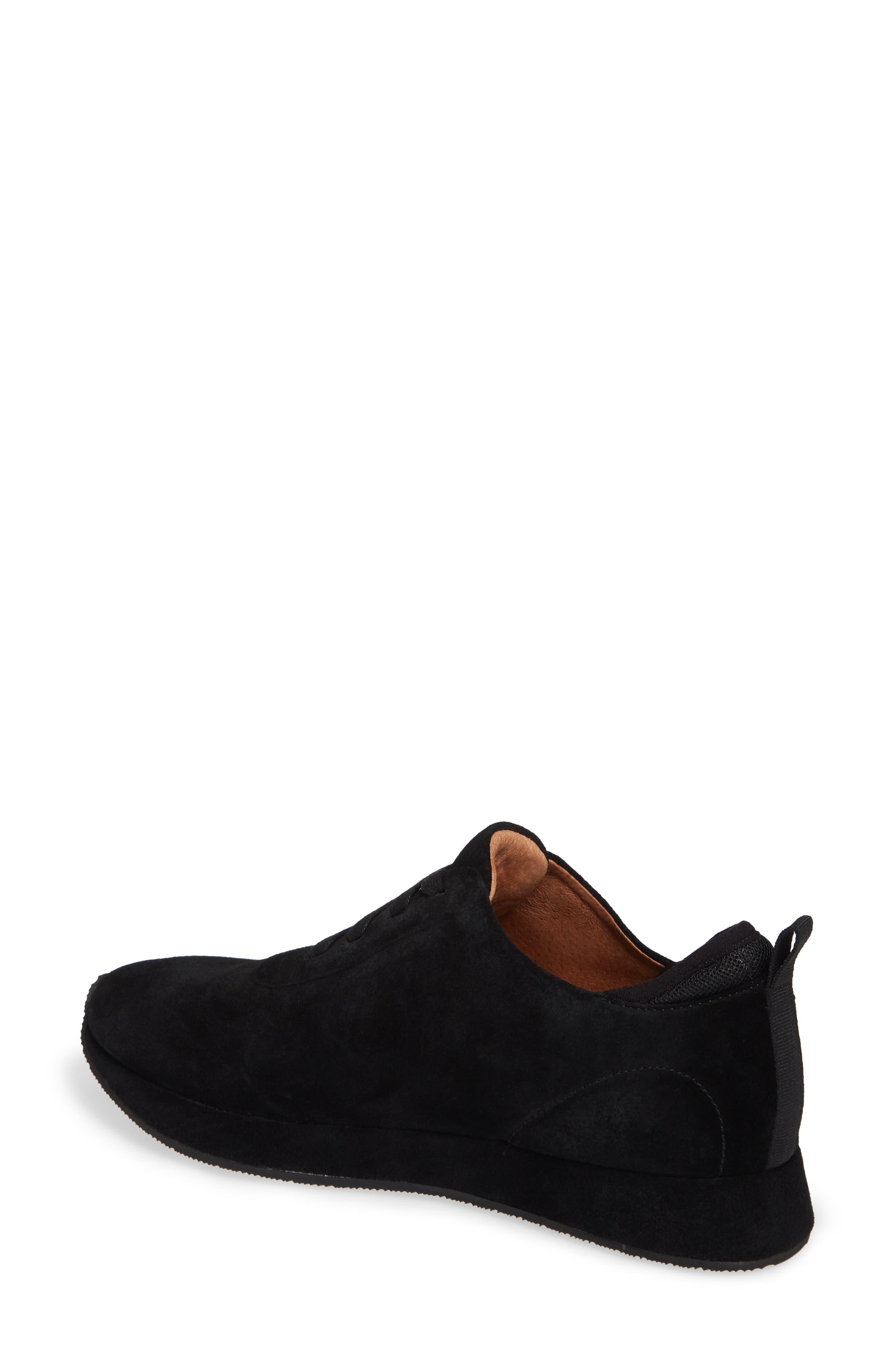 Mabel Sneaker,                             Alternate thumbnail 2, color,                             BLACK SUEDE