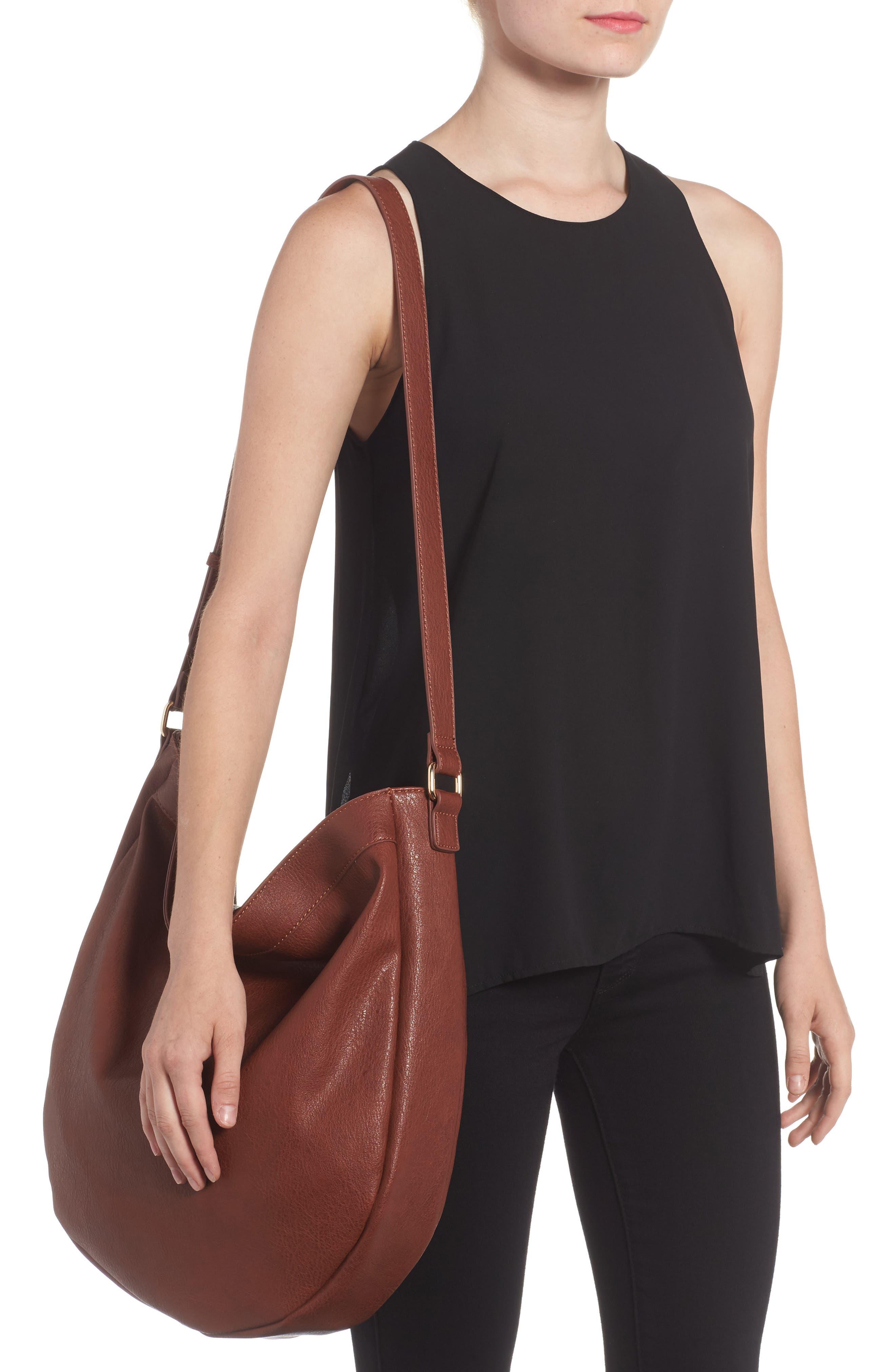 Kadence Faux Leather Shoulder Bag,                             Alternate thumbnail 4, color,